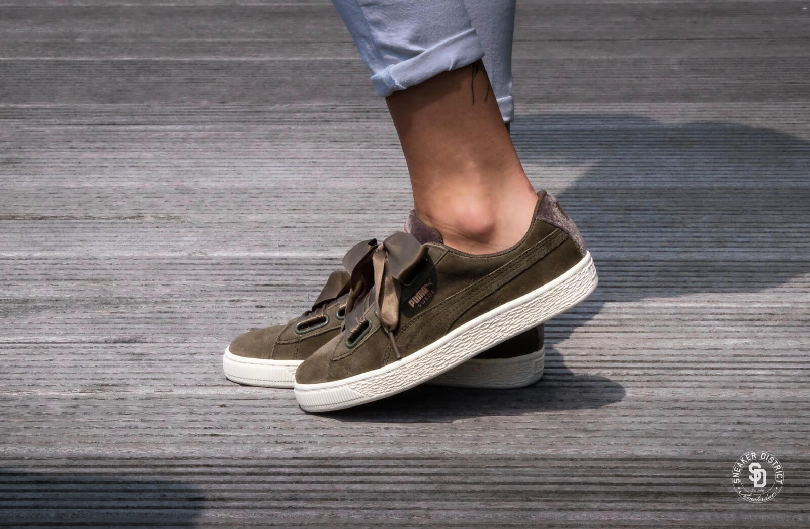 Puma Suede Heart VR Wn's Olive Rose