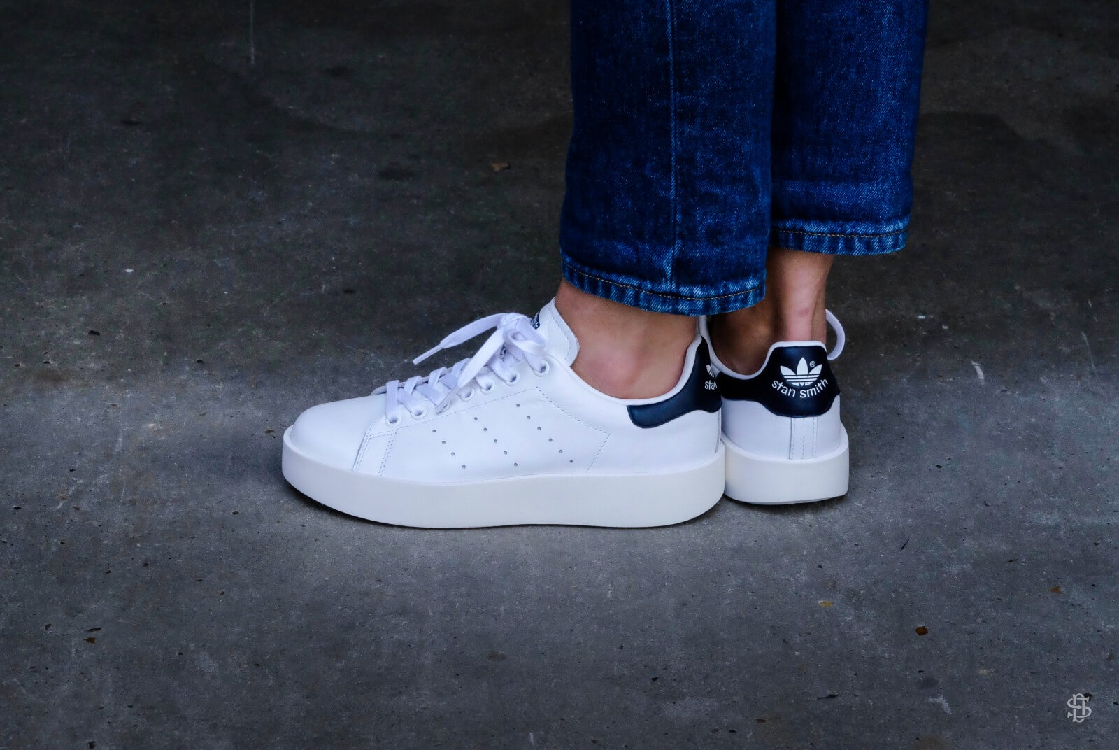 Adidas WMNS Stan Smith Bold Core Black/Collegiate Navy - BA7770
