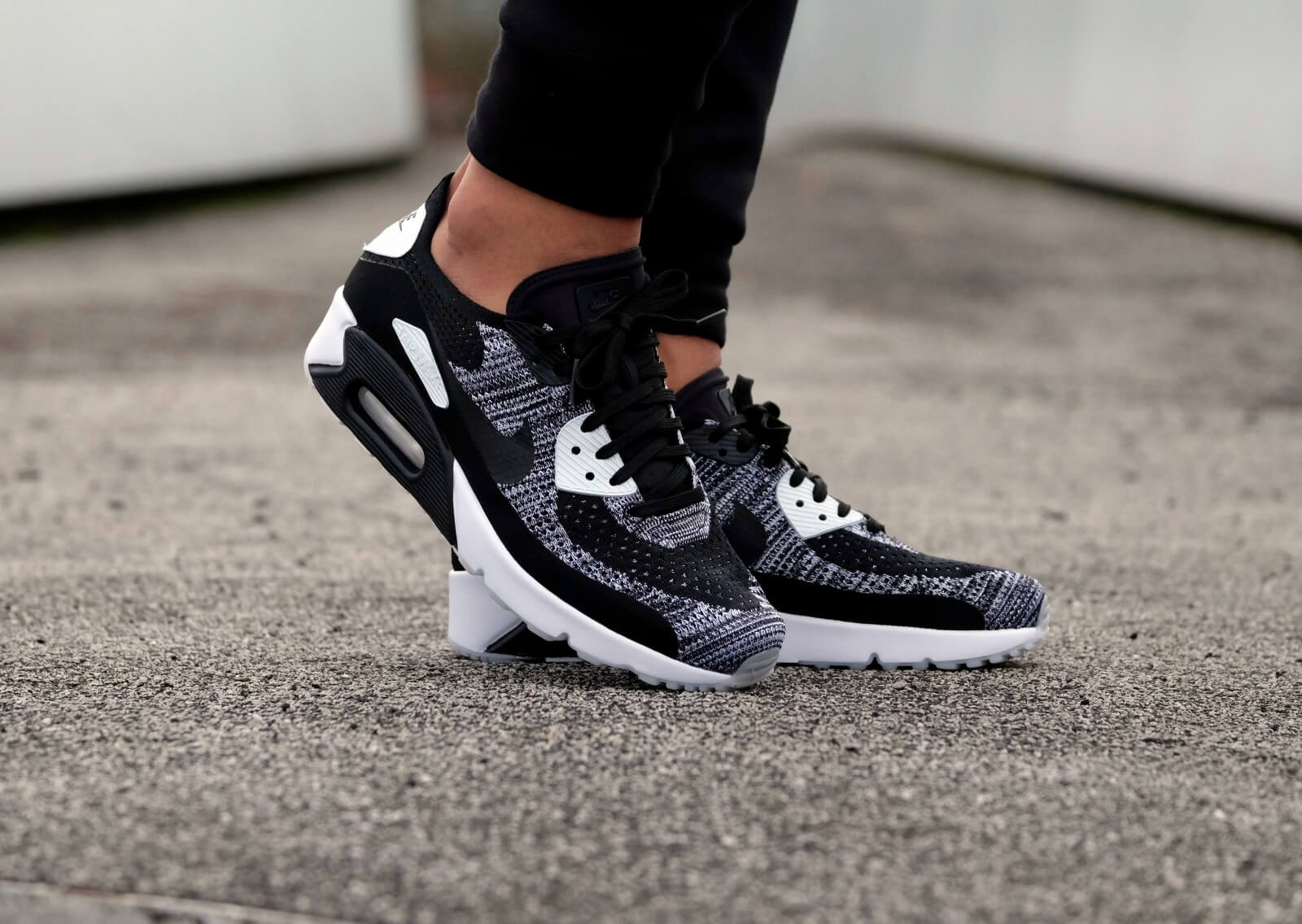 Nike Air Max 90 Ultra 2.0 Flyknit BlackBlack White 875943 001