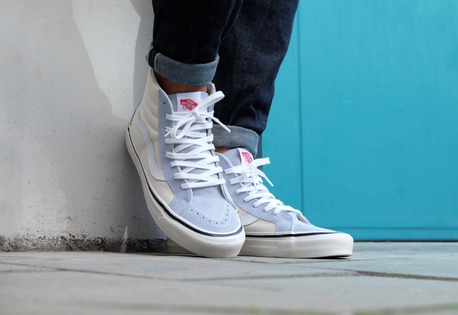 808b05b51ef8 Buy vans sk8 hi light blue