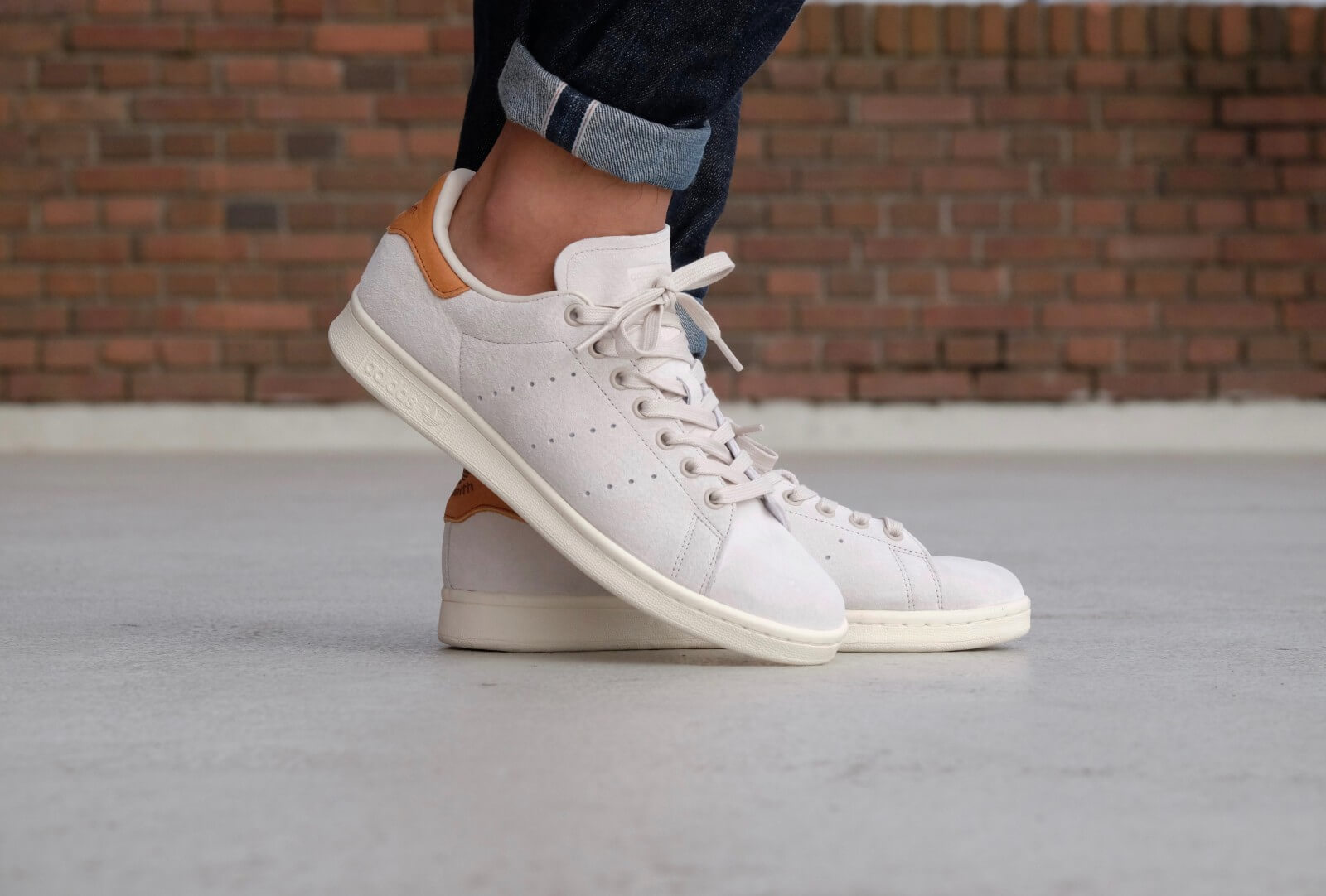 adidas stan smith clear brown off white bb0042