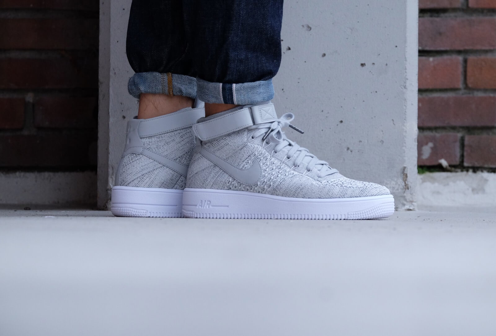 Nike Air Force 1 Ultra Flyknit Mid Wolf grey/wolf grey-white