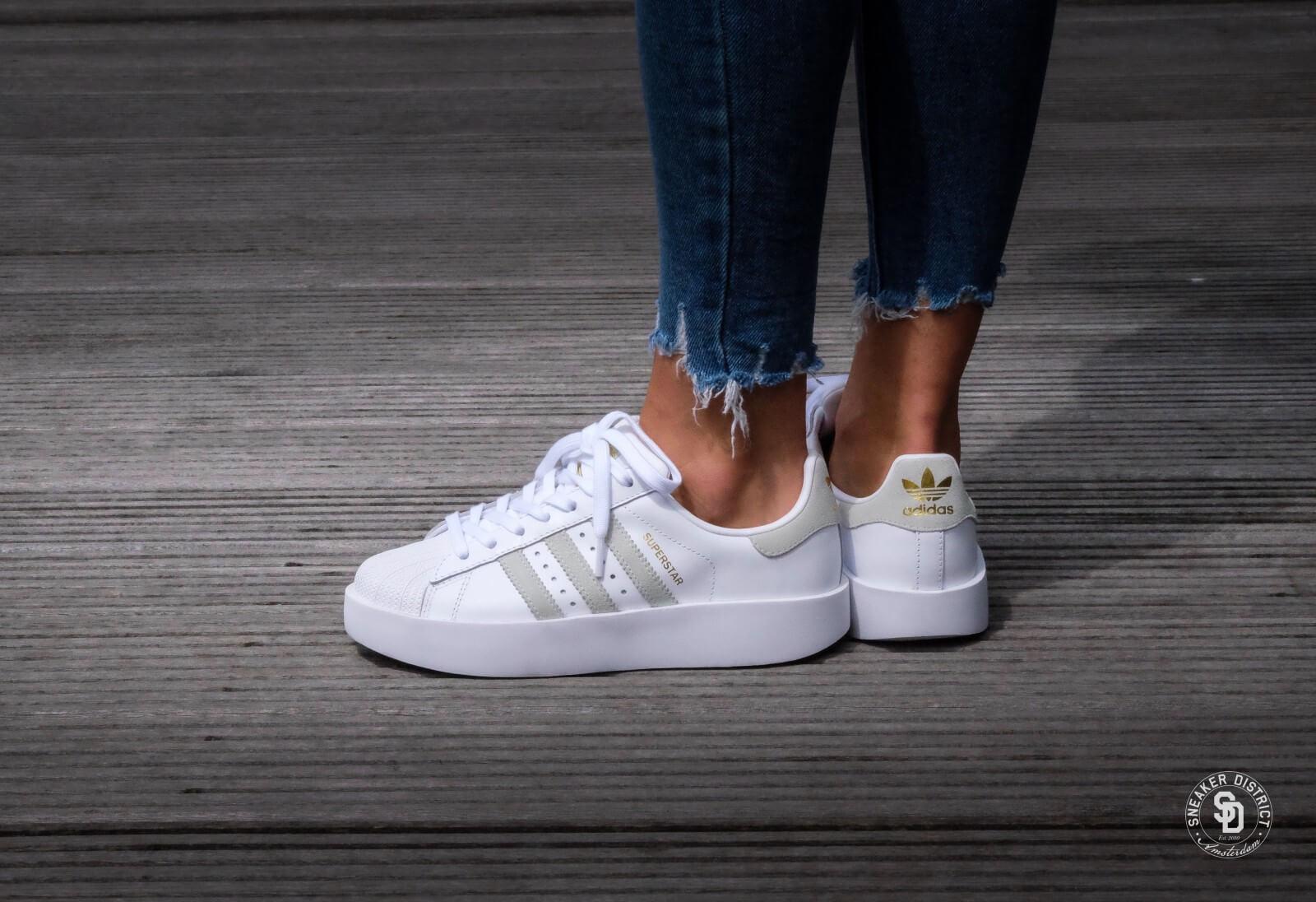 Adidas WMNS Superstar Bold Footwear White/Linen Green/Gold Metallic