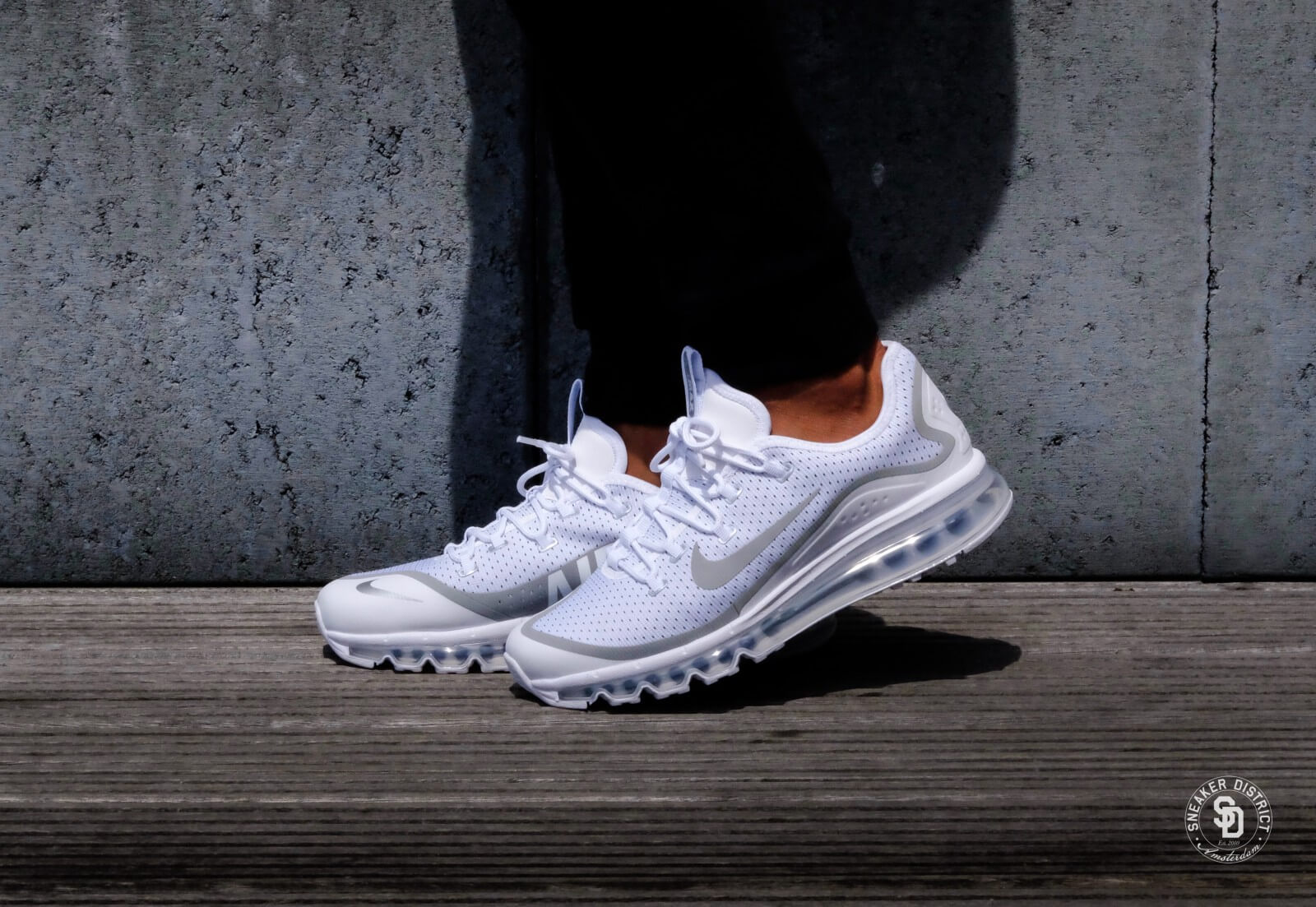 Nike Air Max More White/Metallic Silver-Black - 898013-100