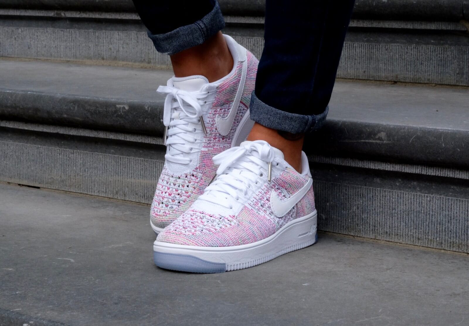 Nike Air Force 1 Flyknit Low Whitewhite radiant emerald 820256 102