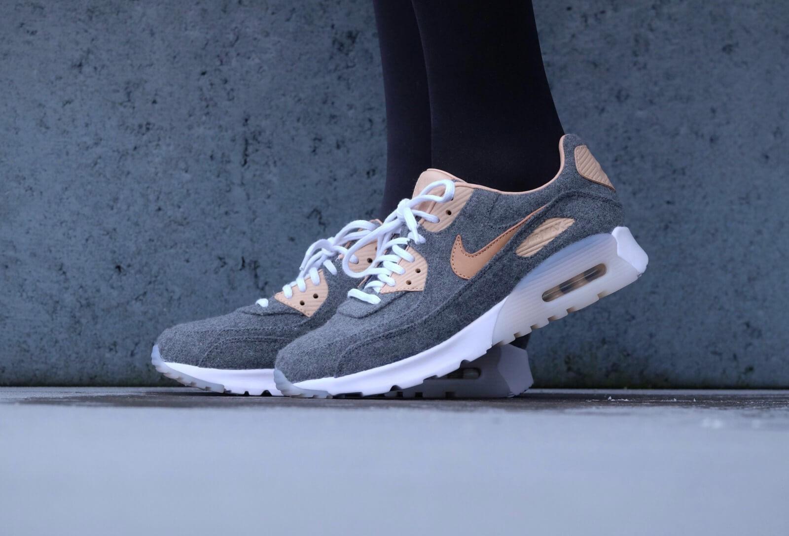 Nike WMNS Air Max 90 Ultra PRM Cool greyvachetta tan white 859522 001