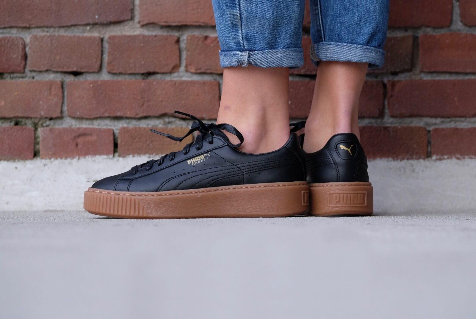 Puma Basket Platform Core Shoes Black 364040 02