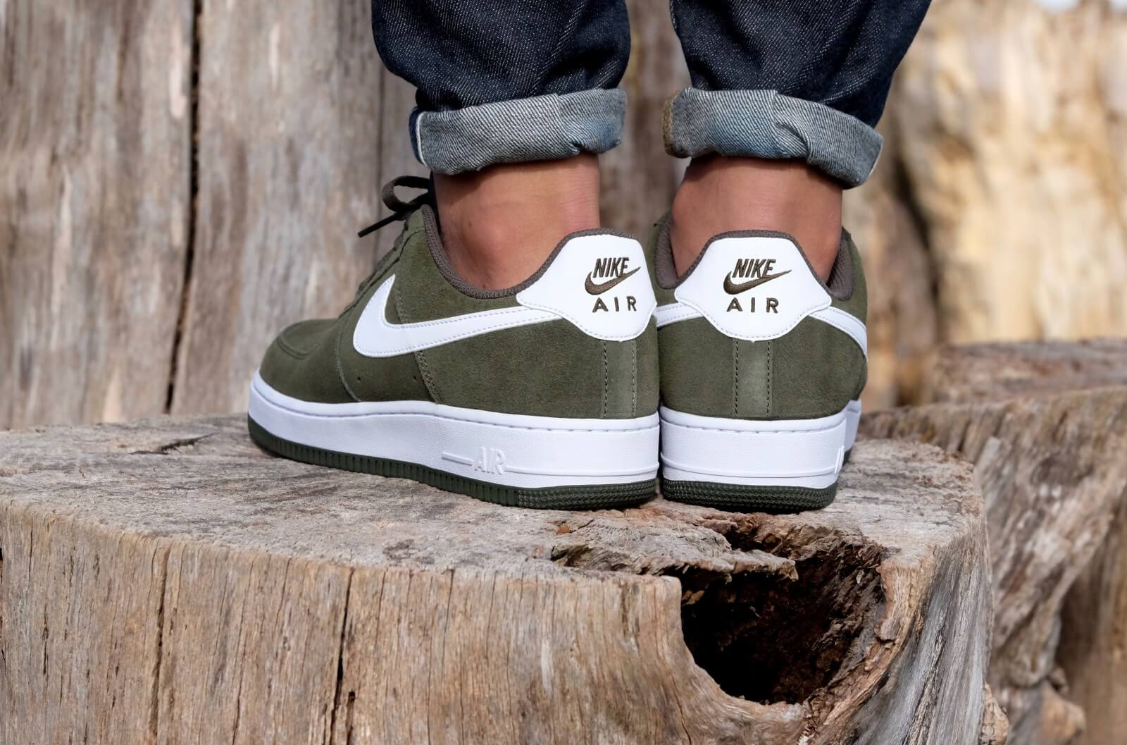 Nike Air Force 1 Cargo Khaki White 820266 301