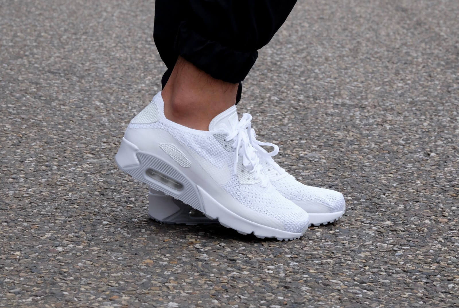 nike air max ultra flyknit 2.0 dames platinum wit
