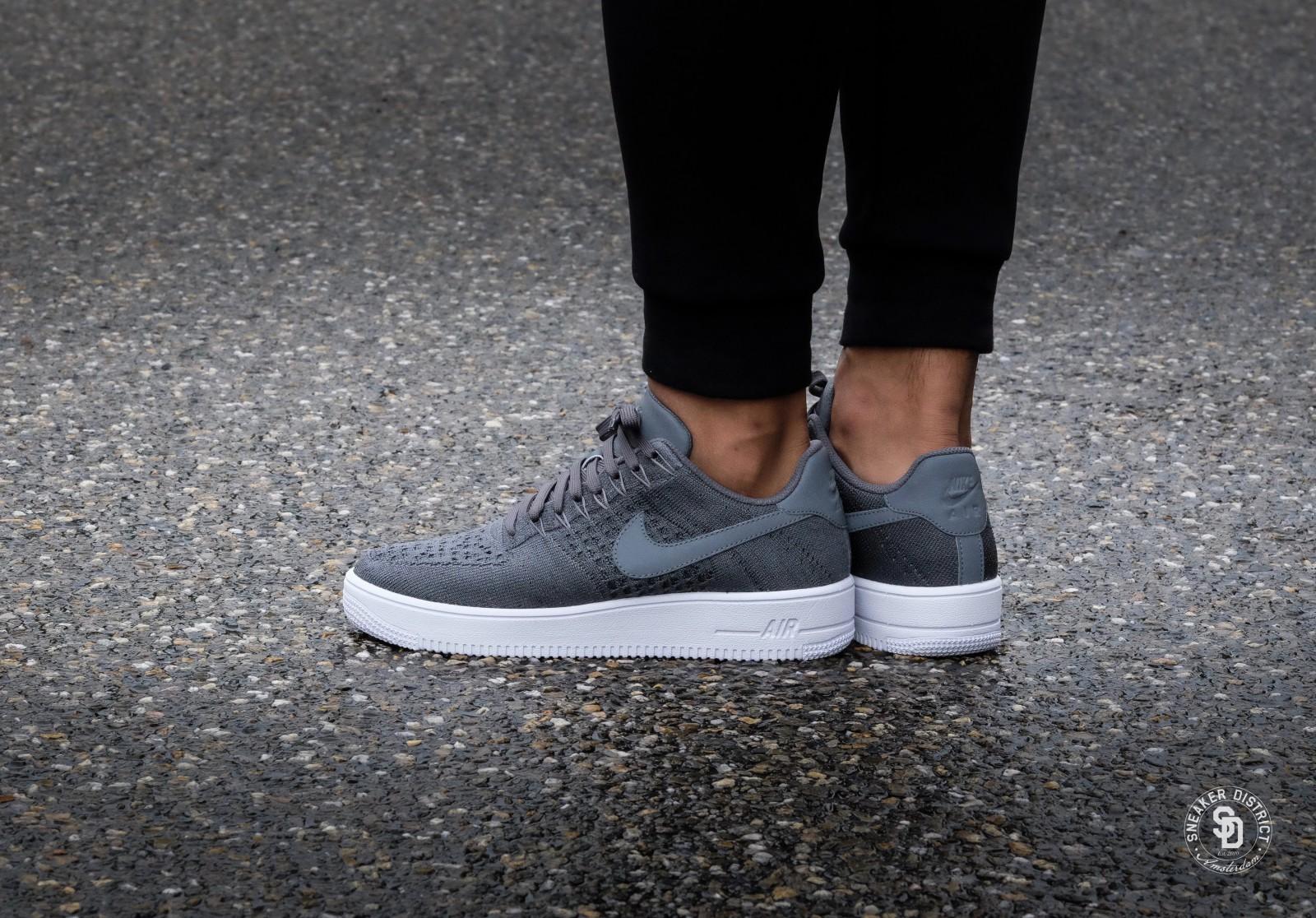 Nike Air Force 1 Ultra Flyknit Low Dark Grey/White