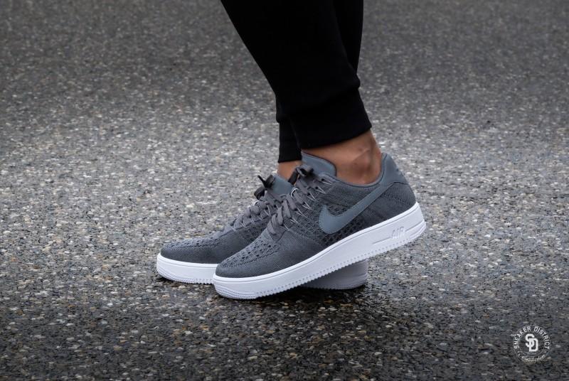 Nike Air Force 1 Ultra Flyknit Low Dark Grey White - 817419-007 667ac9056a64
