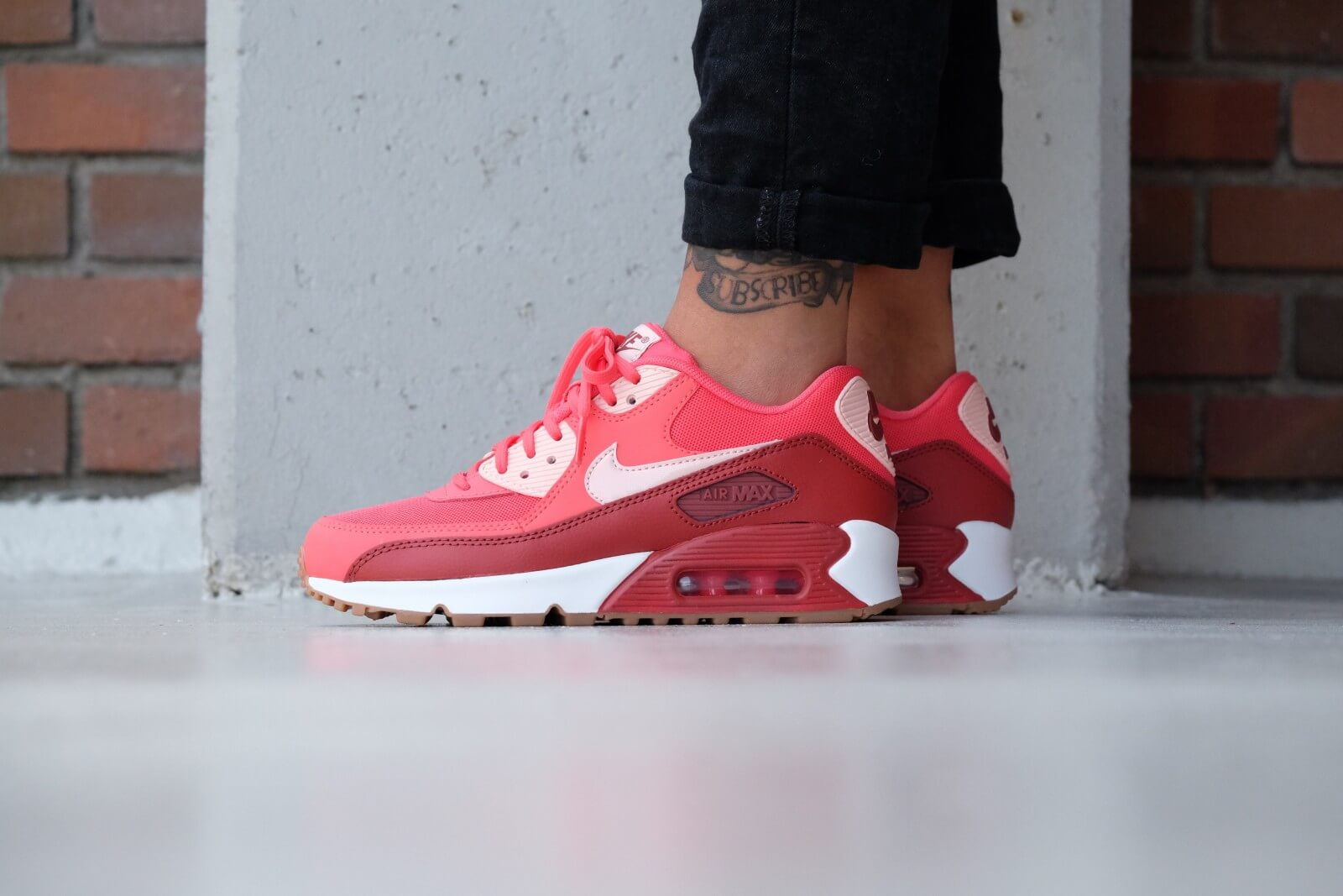 Nike WMNS Air Max 90 Essential Ember glow Arctic orange dark cayenne 616730 800 Ember glow Arctic orange dark cayenne 616730 800
