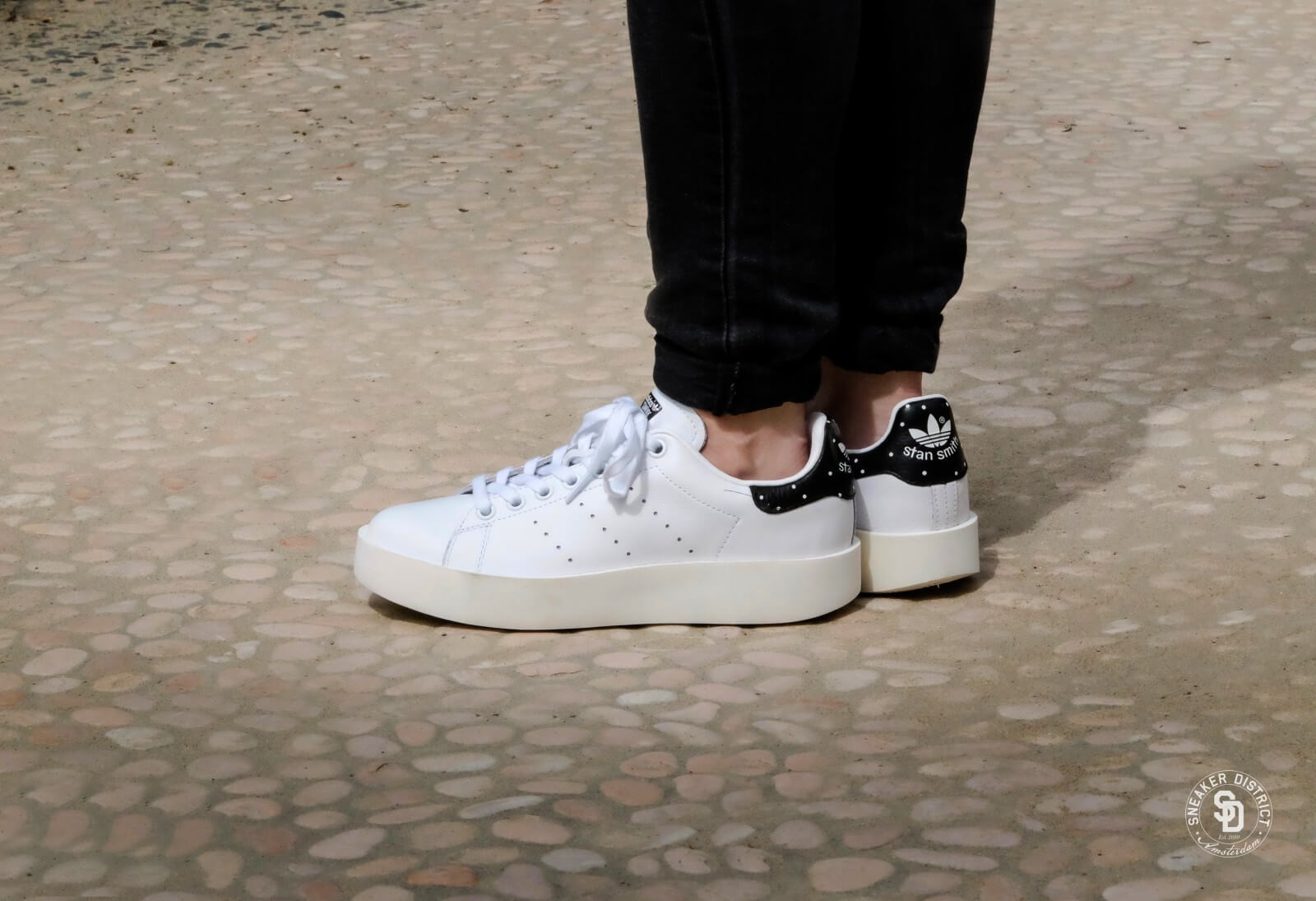 Adidas Stan Smith Bold W - Footwear White / Core Black - BA7771