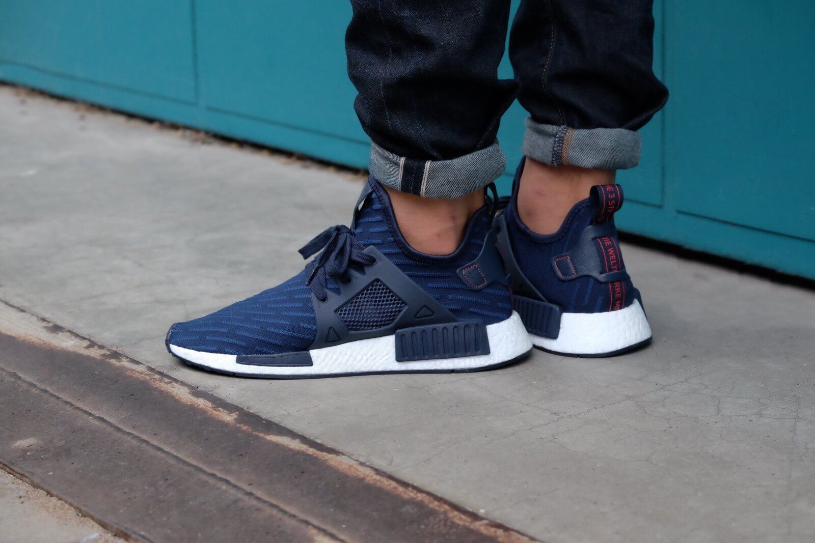 adidas Blue Primeknit NMD XR1 Shoes adidas GR