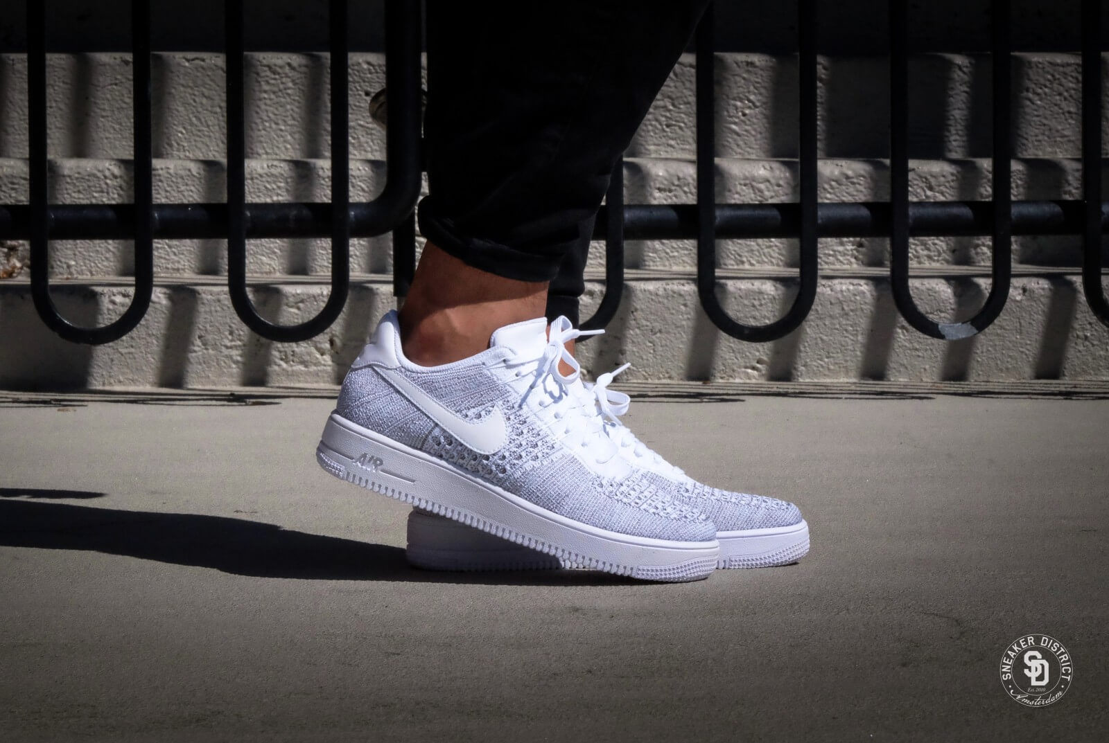 Zapatos 2018 varios diseños hermosa en color Nike Air Force 1 Ultra Flyknit Low - Cool Grey / White - 817419-006
