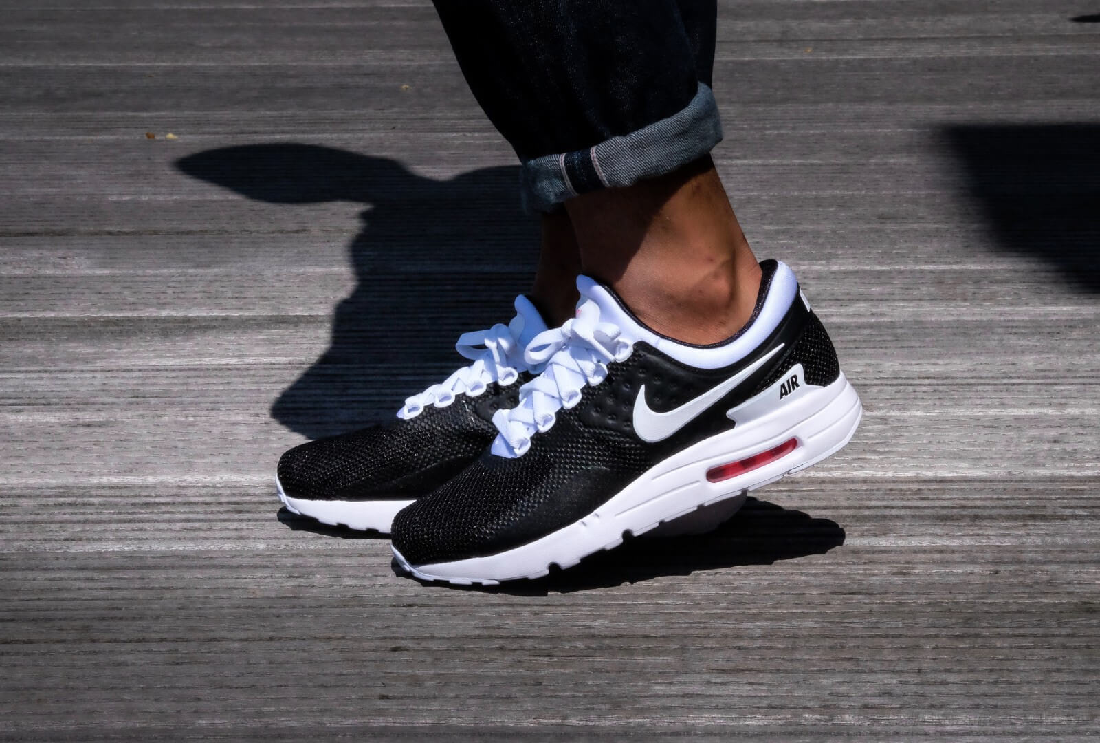 Nike Air Max Essential Zero Black White Solar Red 876070 010
