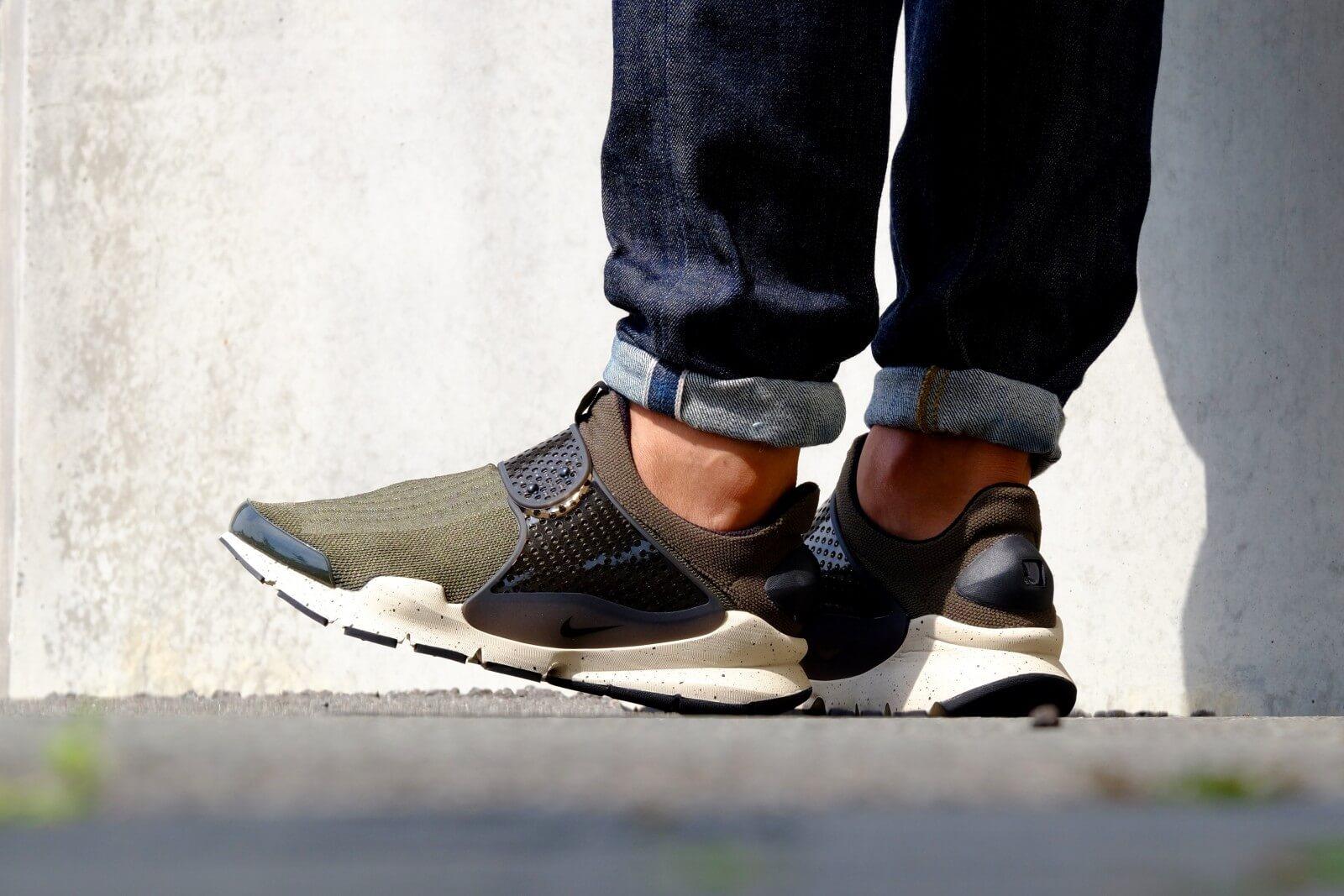 buy online 8d358 b16fd ... White  Nike Sock Dart KJCRD Cargo Khaki Black Rattan ...