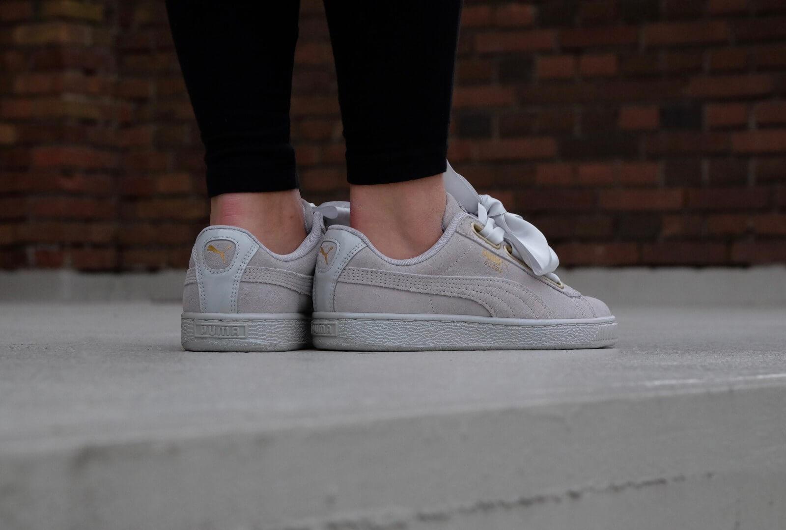 Grey PUMA Sneakers SUEDE HEART SATIN