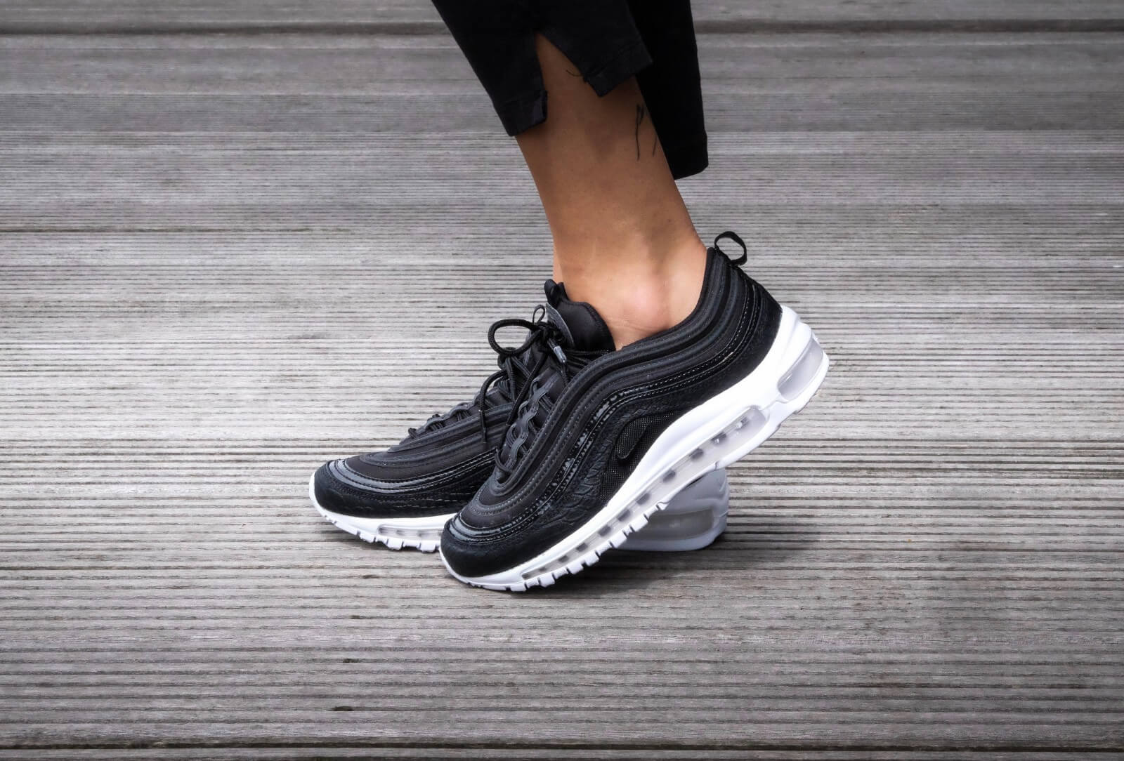 Nike W Air Max 97 Prm Black White 917646 001