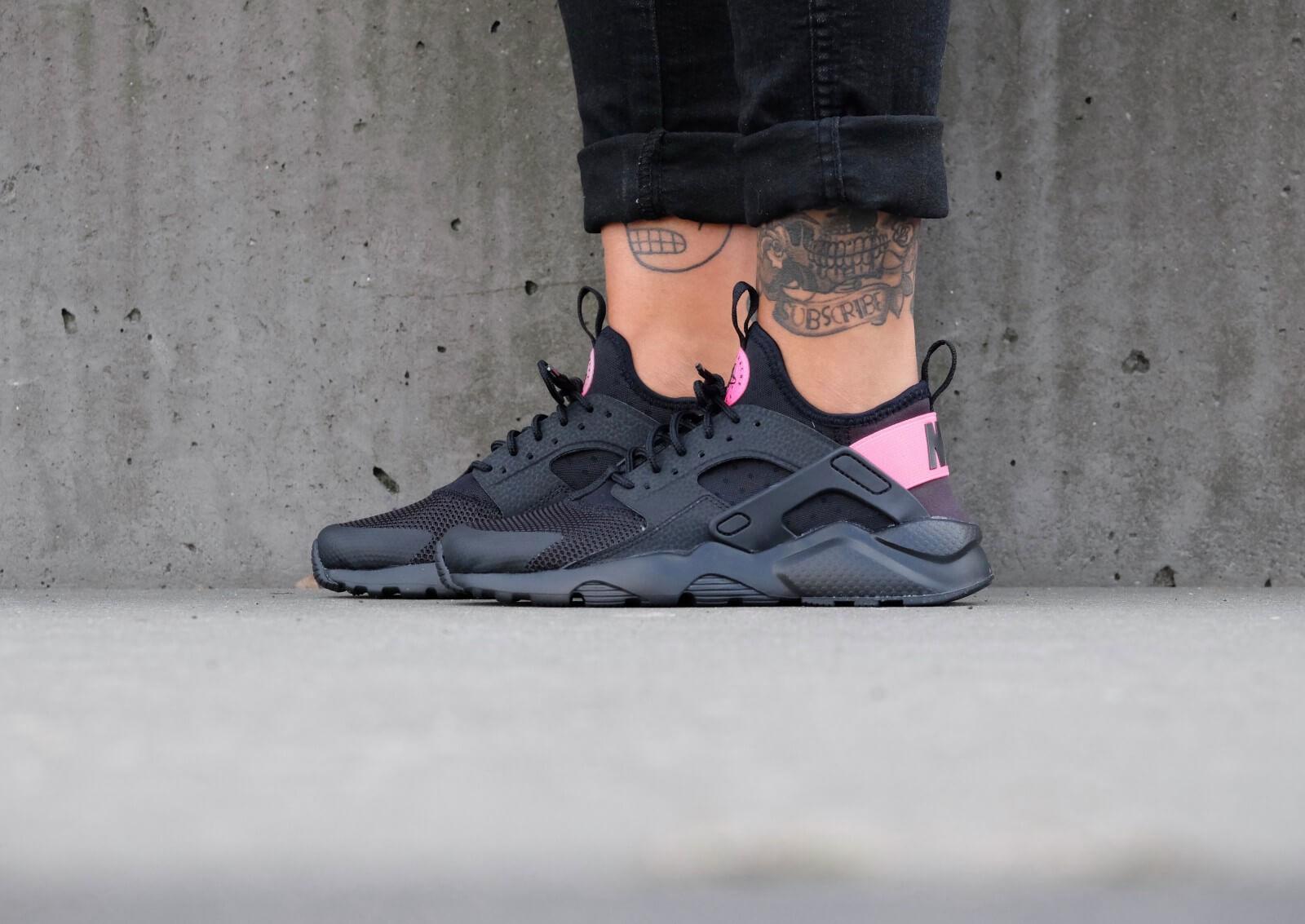 Nike Air Huarache Ultra GS Black Black Hyper Pink 847568 003