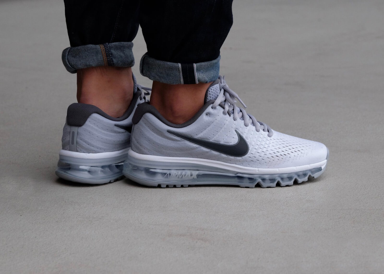 Nike Air Max 2017 WhiteDark Grey Wolf Grey 849559 101