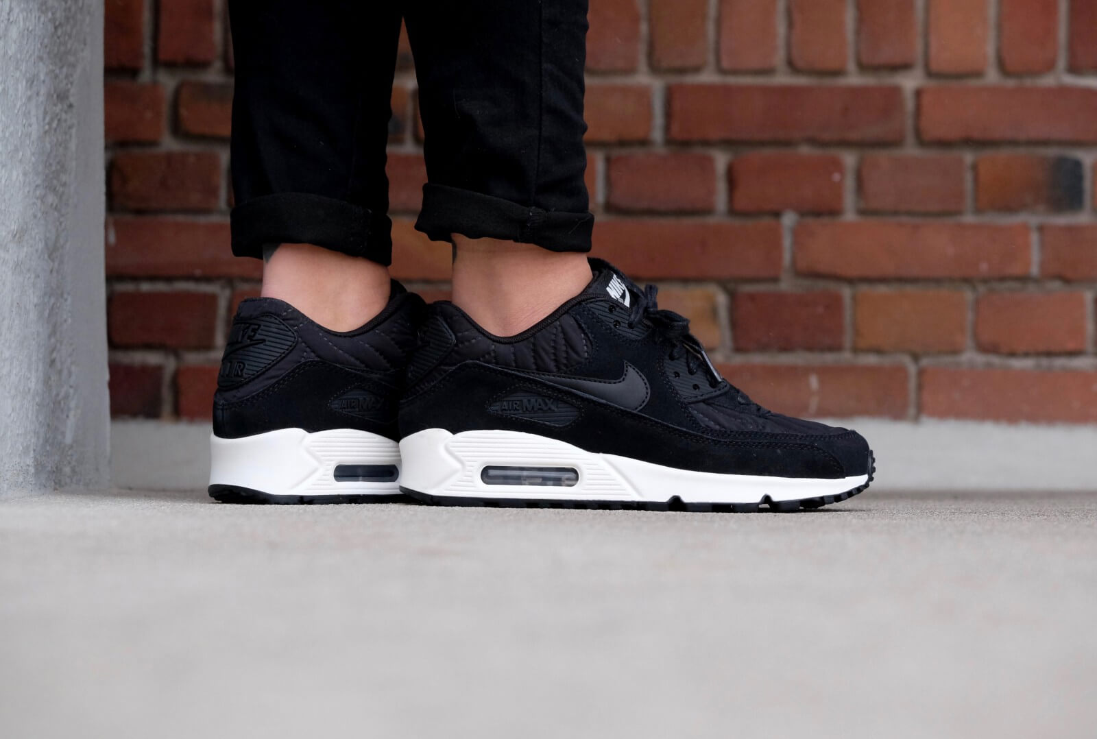 on sale b13af bf028 ... greece nike wmns air max 90 premium black black ivory e493d 8098c ...