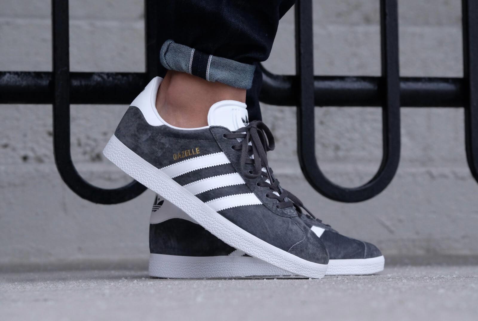 Adidas Gazelle Solid Grey/White/Gold Metallic
