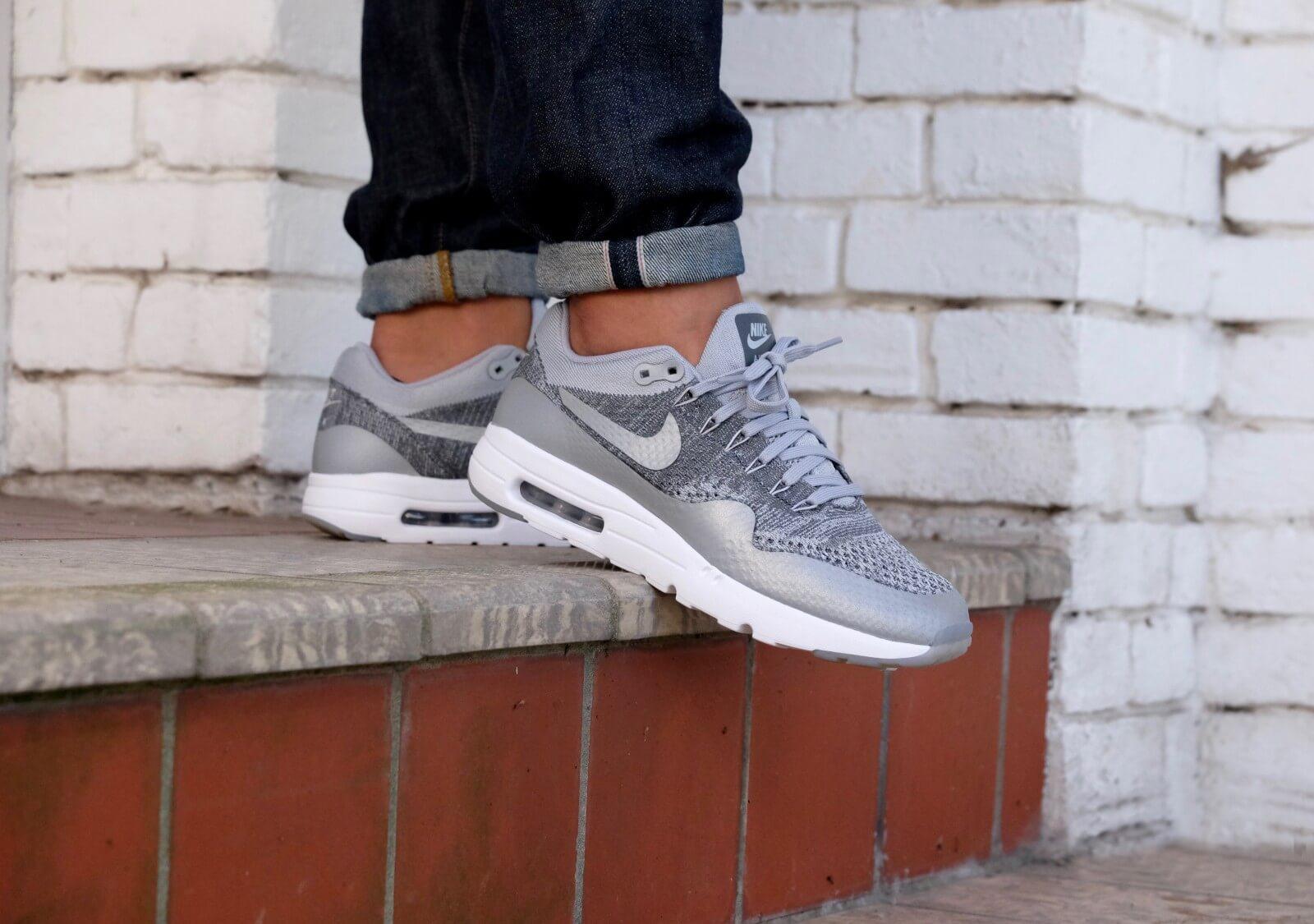 Air Max 1 Ultra Flyknit 'Wolf Grey' Nike 843384 001 | GOAT