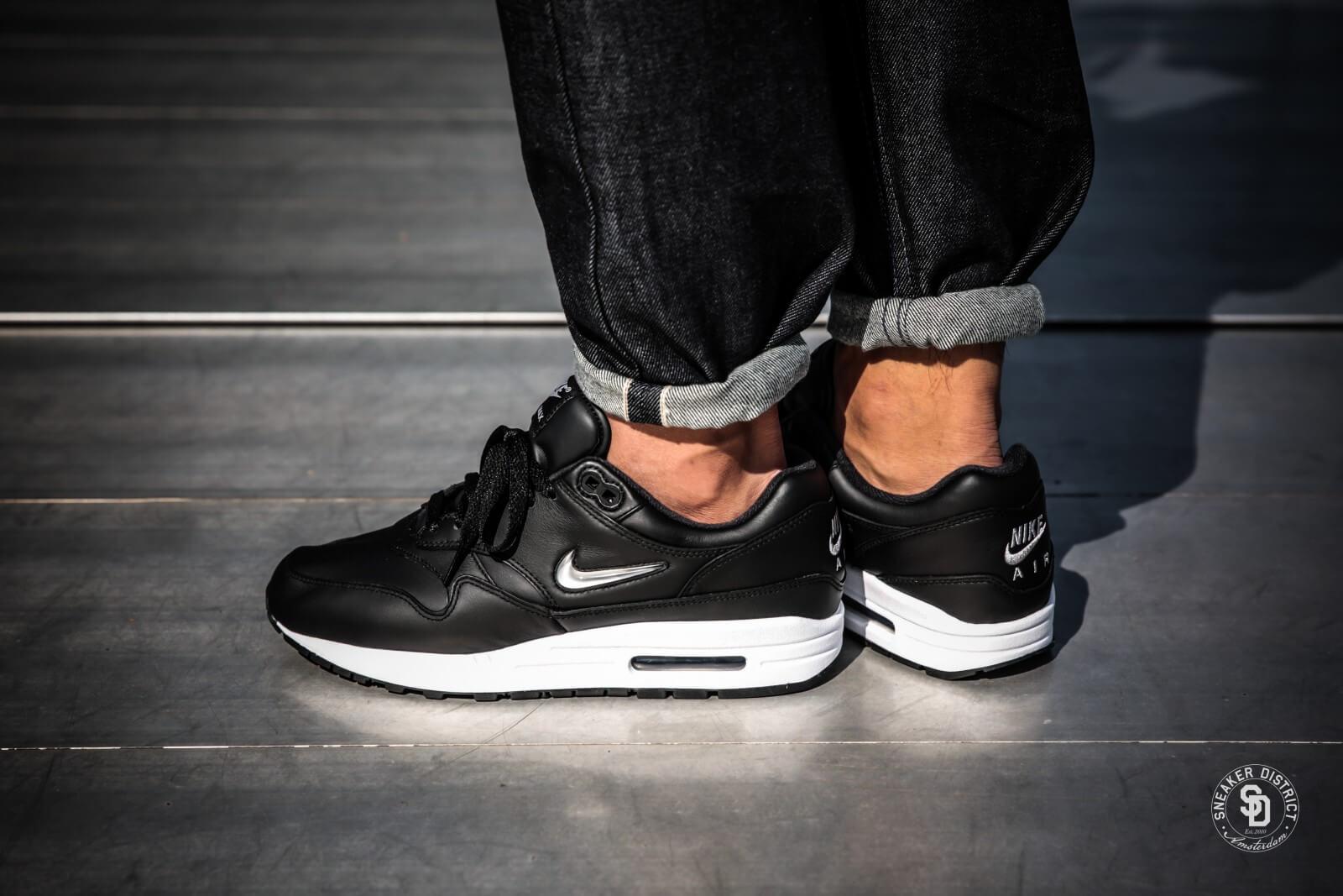 Nike Air Max 1 Premium SC Black/Metallic Silver-White