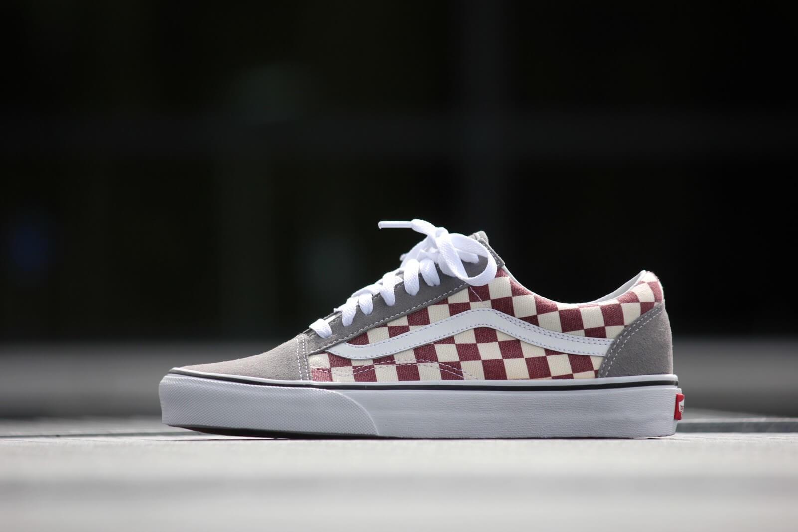 Vans Old Skool Checkerboard Grey