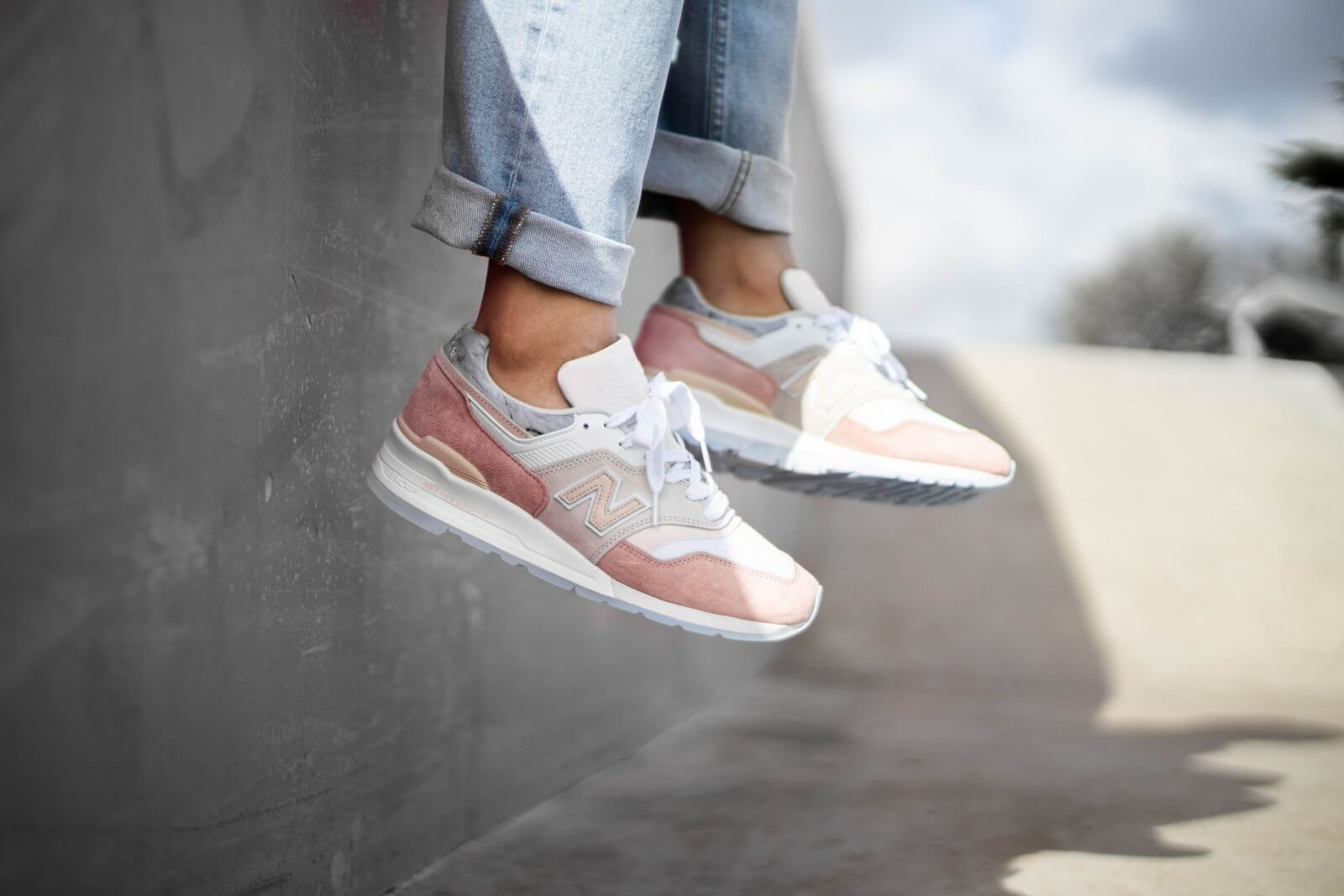 New Balance M997LBH White/Pink Made in