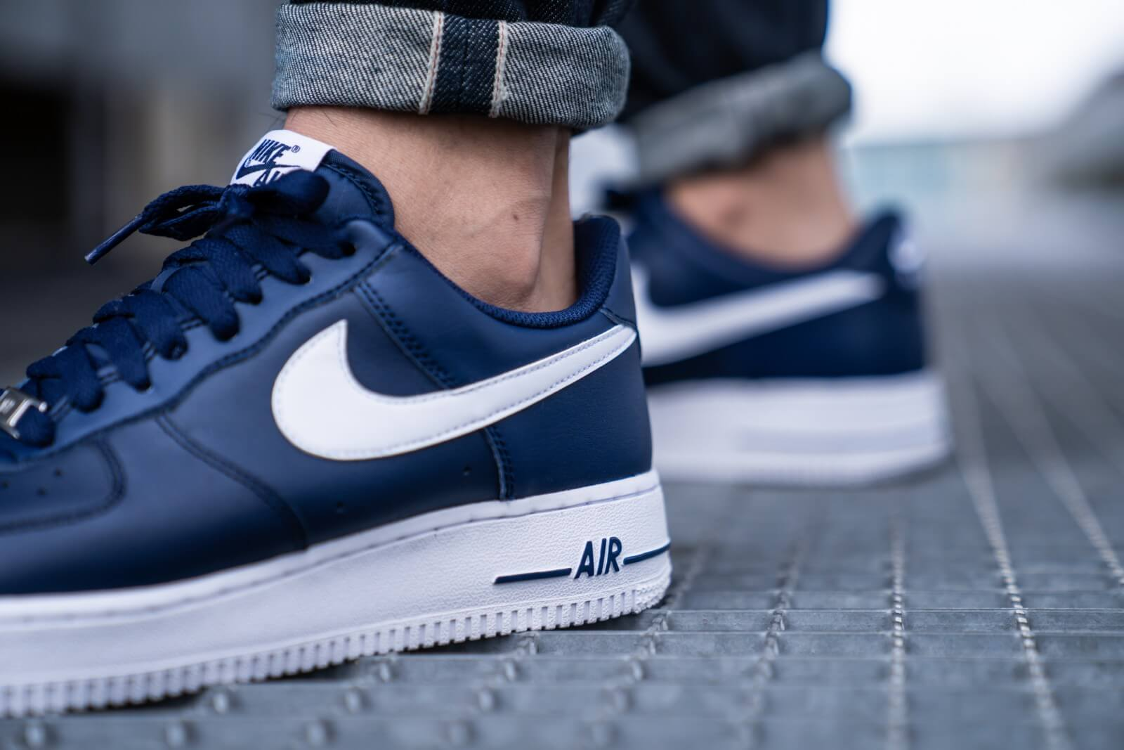 Nike Nike Air Force 1 Wit Navy Blauw