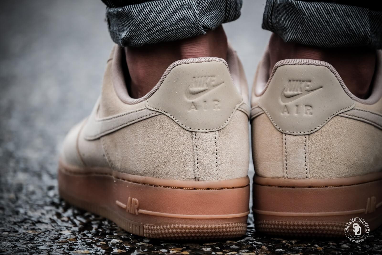 sports shoes 0c112 17468 Nike Air Force 1  07 LV8 Suede Mushroom-Gum Medium Brown-Ivory - AA1117-200