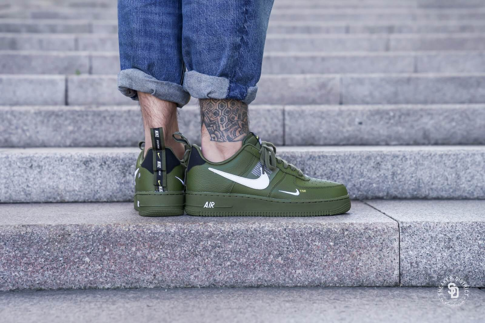 nike air force 1 07 lv8 utility olive green