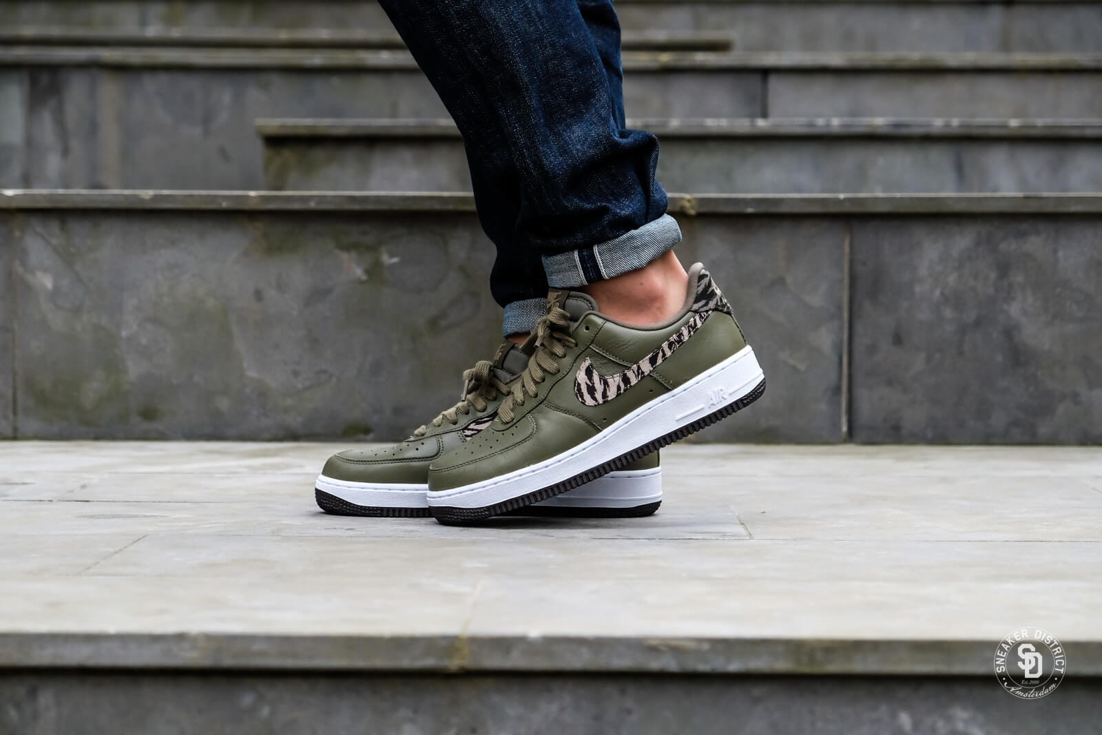 Nike Air Force 1 AOP Premium Medium Olive/ Khaki nRaFtBj