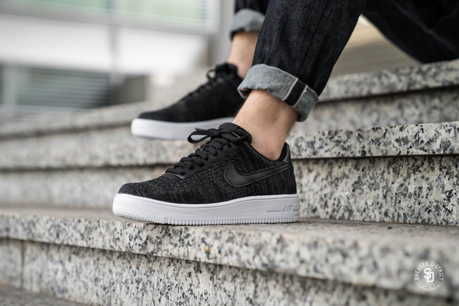 Nike Air Force 1 Flyknit 2.0 Black/White-Anthracite