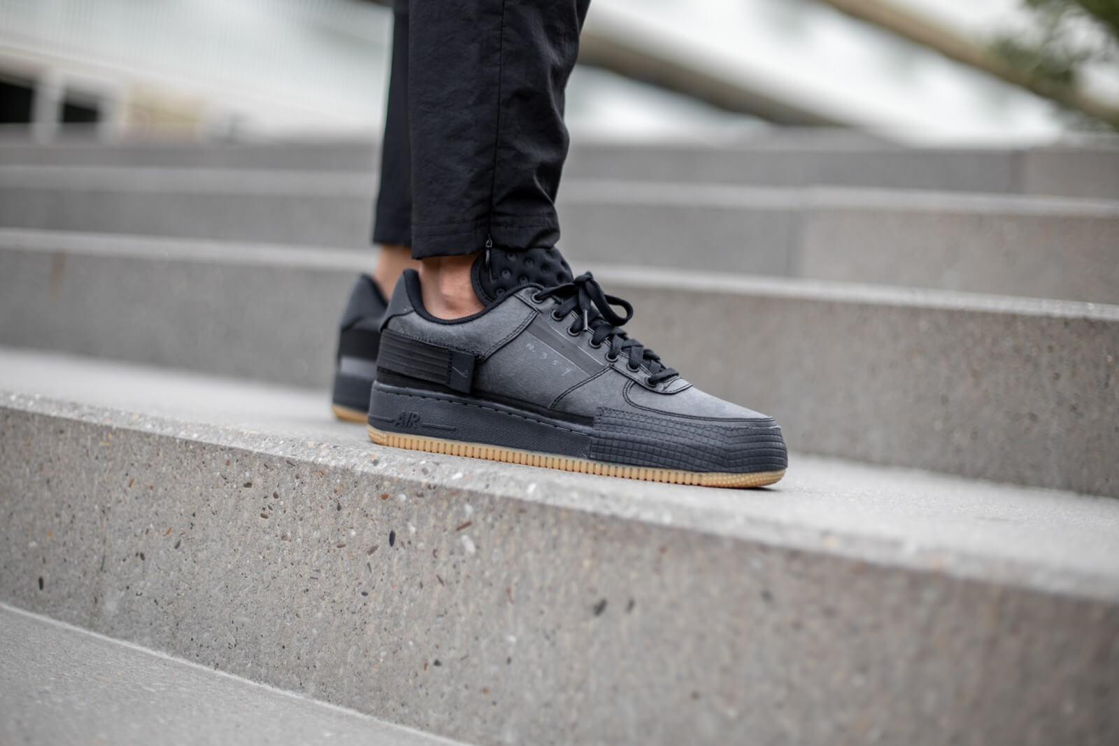 violencia dividir Peaje  Nike Air Force 1 Type Black/Anthracite-Gum Light Brown - CJ1281-001