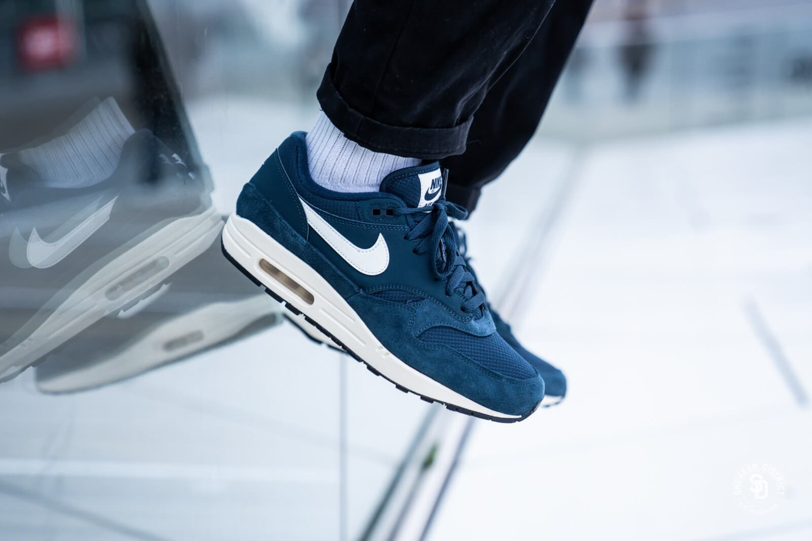 bd26165e482 Nike Air Max 1 Armory Navy Sail Black AH8145 401
