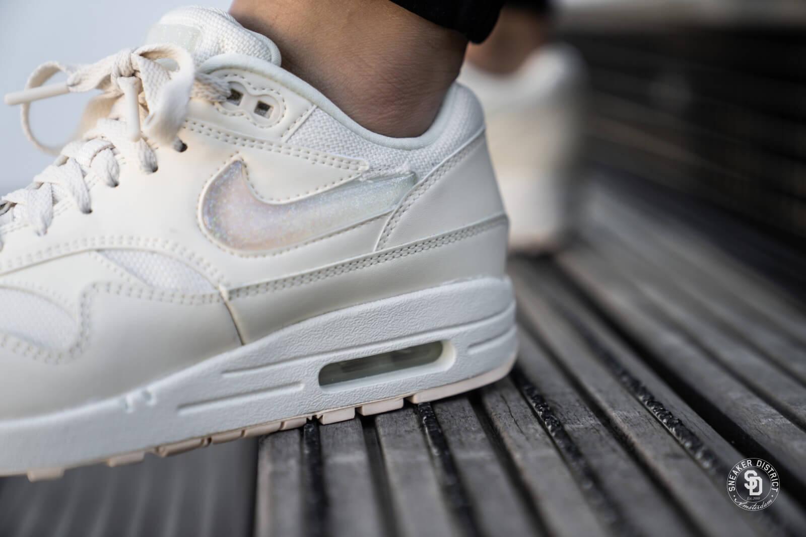Womens Cool Grey & Ivory Nike Air Max 90 Premium Shoe