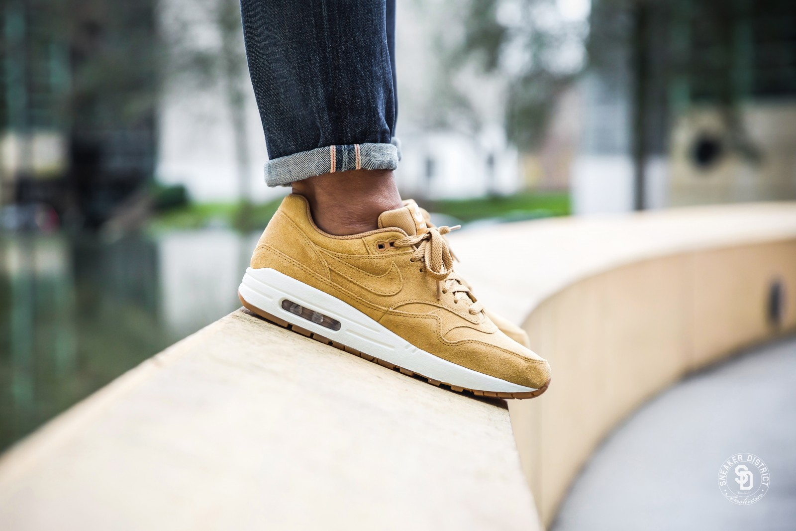 Nike Air Max 1 Premium FlaxSail Gum sneakers | Gratis verzendkosten | Sneaker District