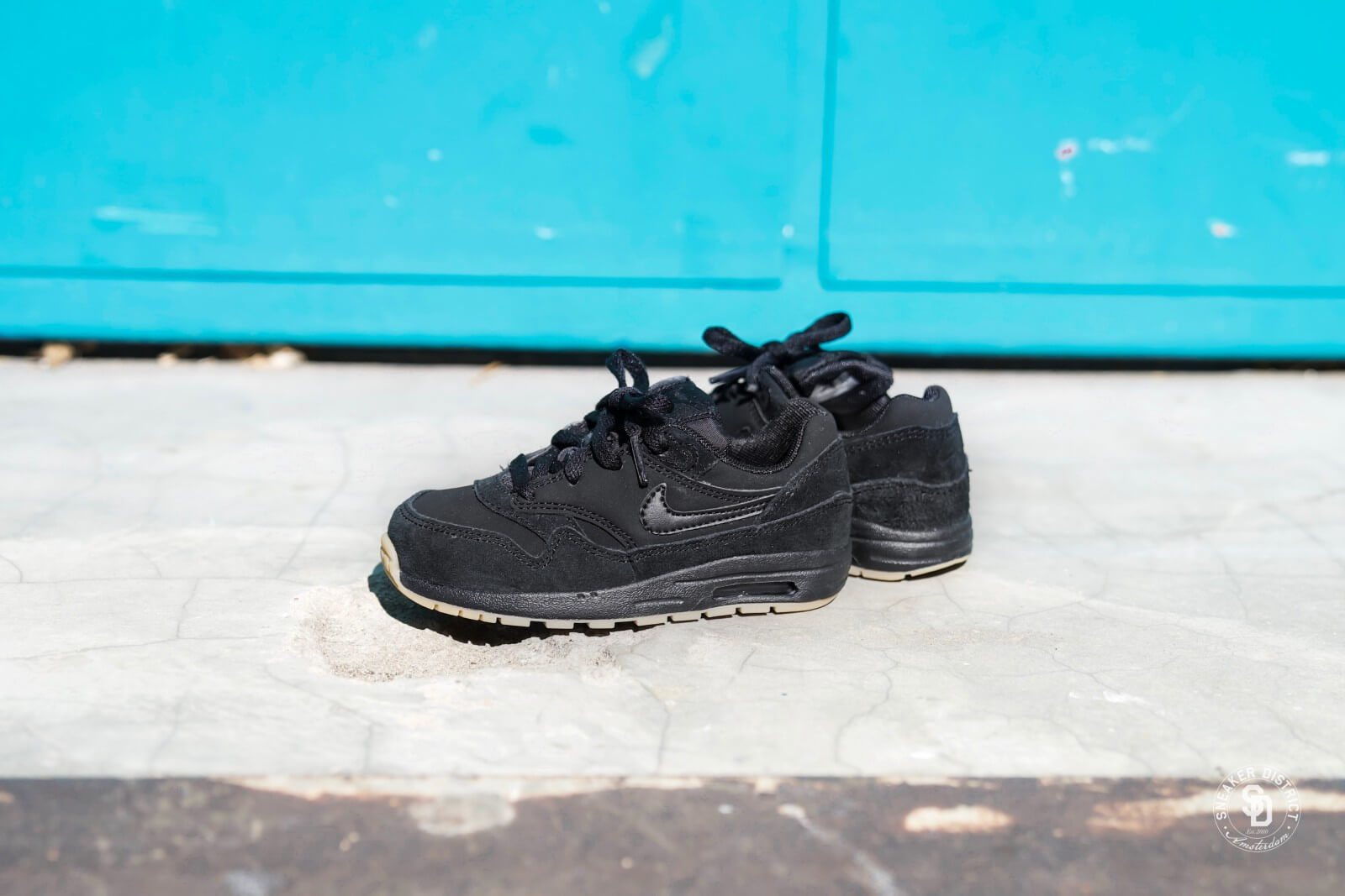 Nike Air Max 1 Td Black Black Gum 807604 008
