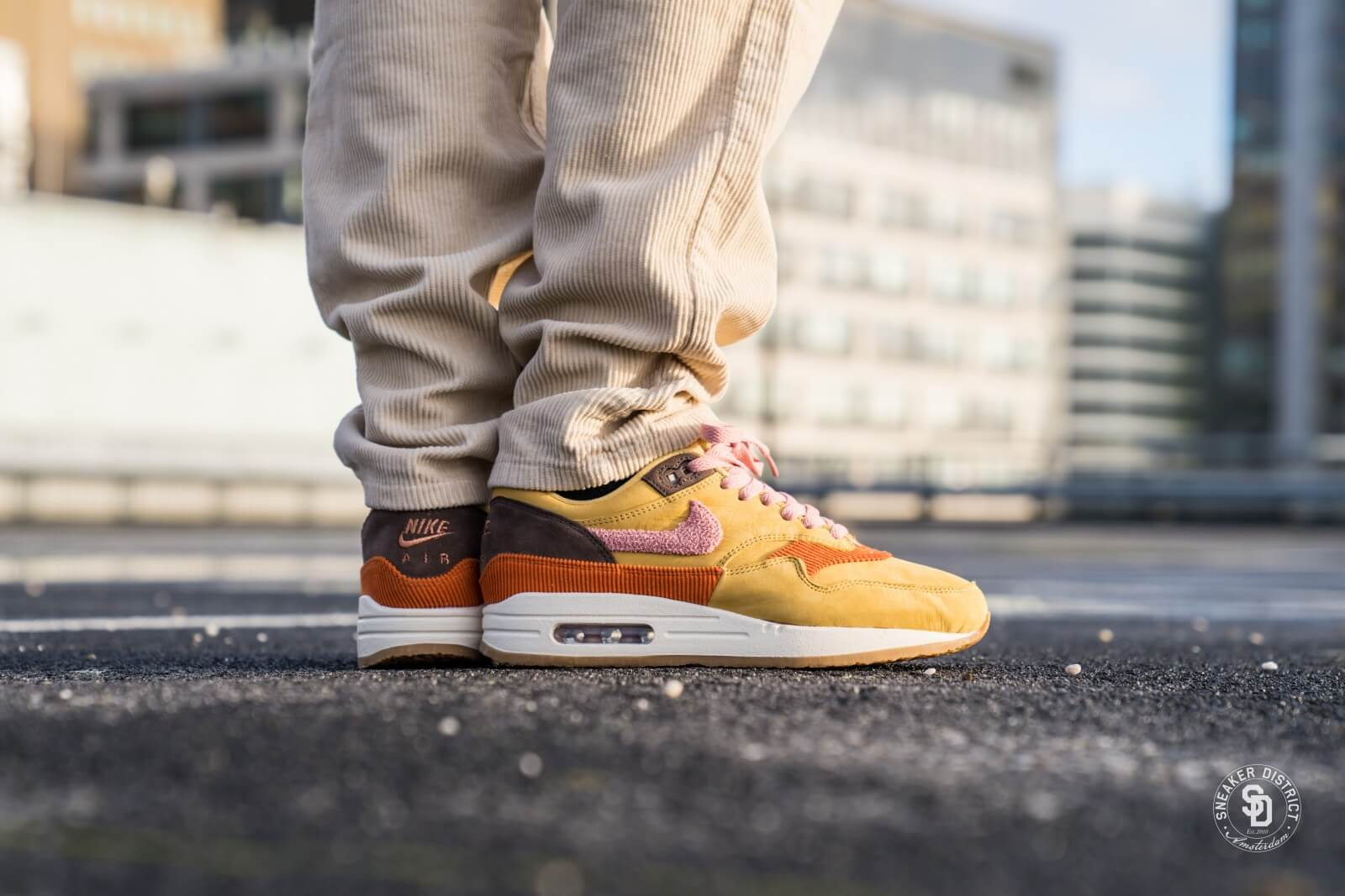 Nike Air Max 1 Wheat Gold/Rust Pink-Baroque Brown