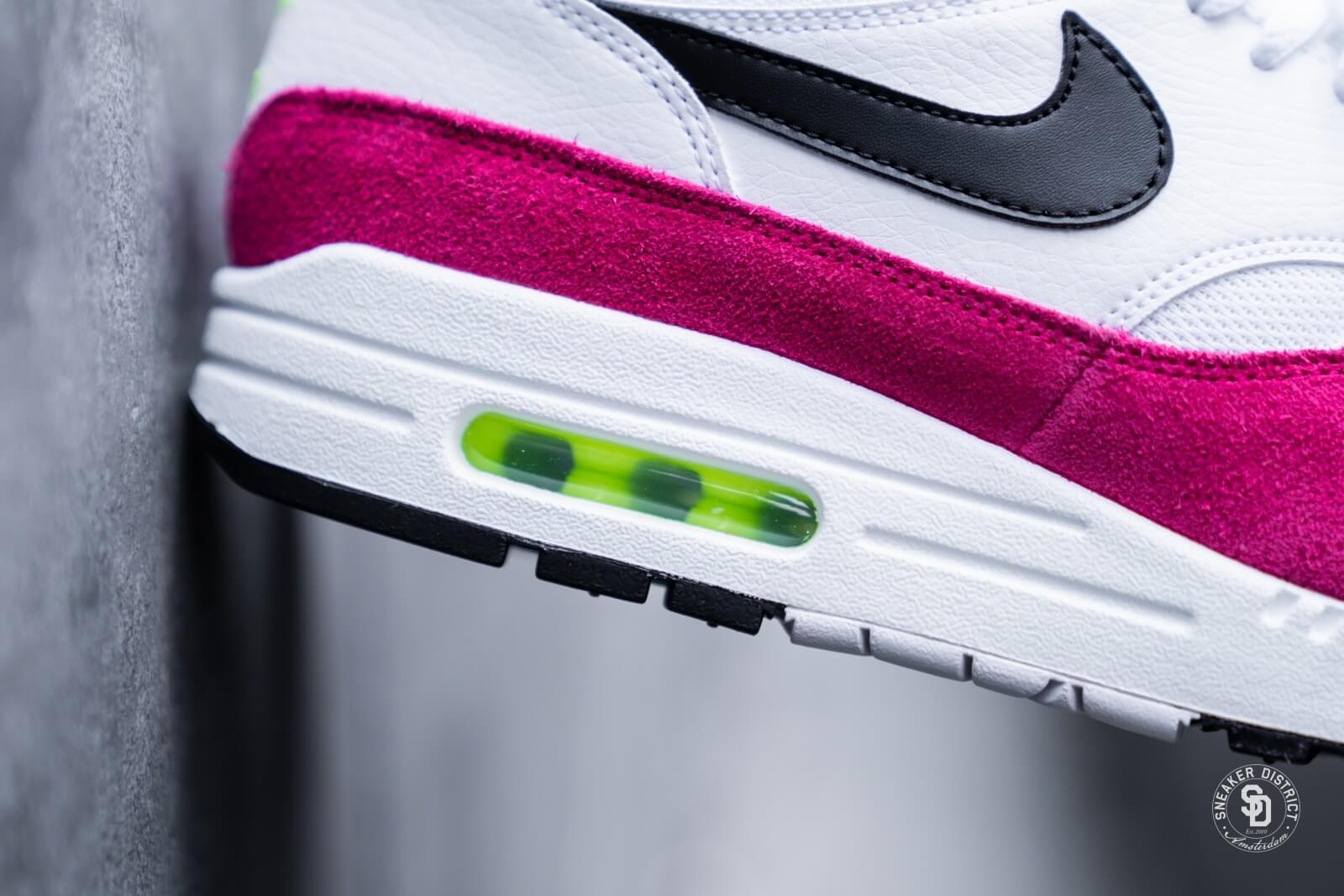 Nike Air Max 1 White/Black Volt-Pink