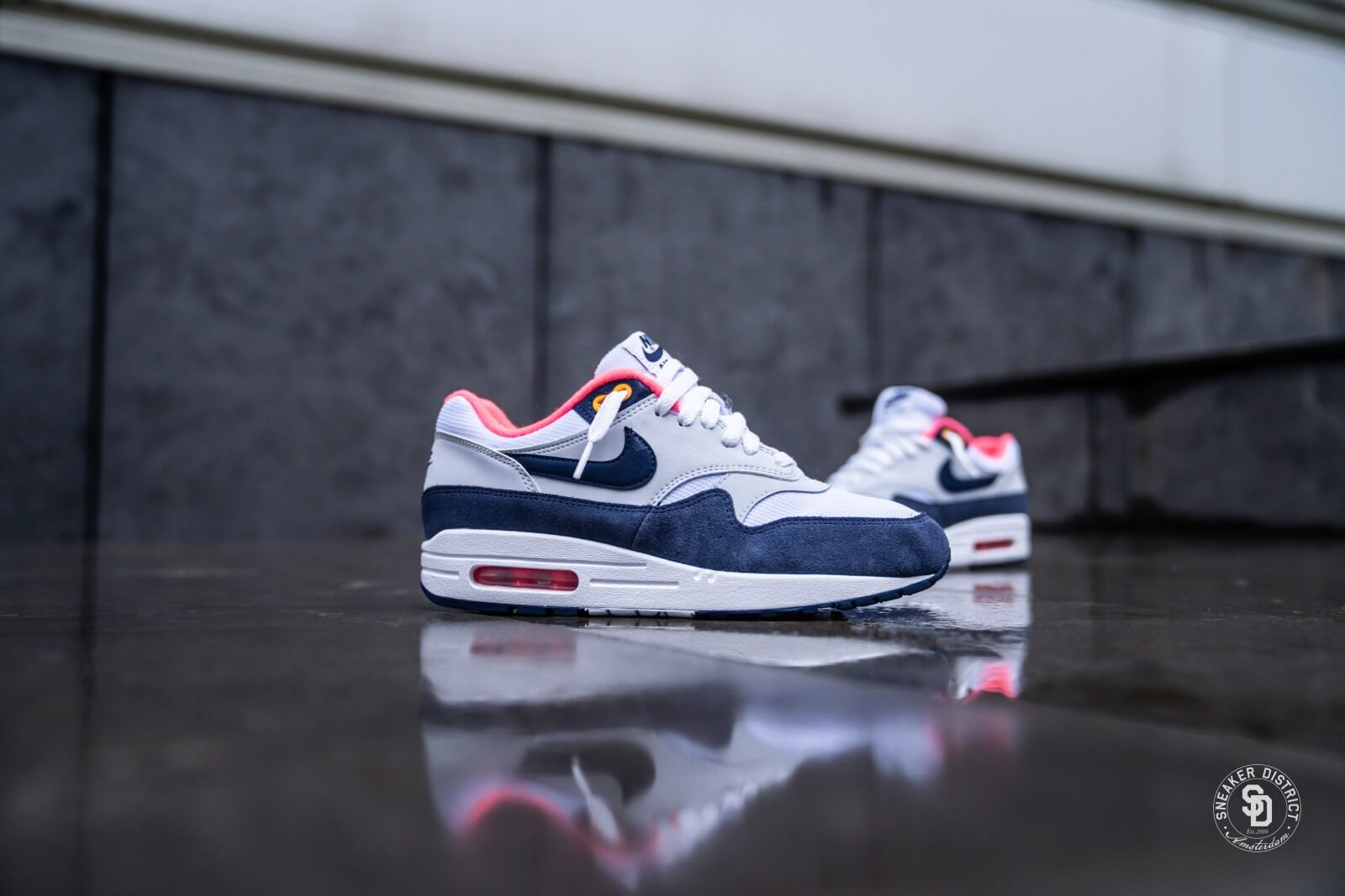 Nike Air Max 1 White/Midnight Navy
