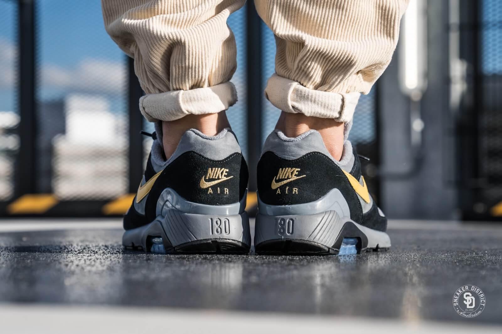 Nike Air Max 180 Cool Grey/Wheat Gold-Black