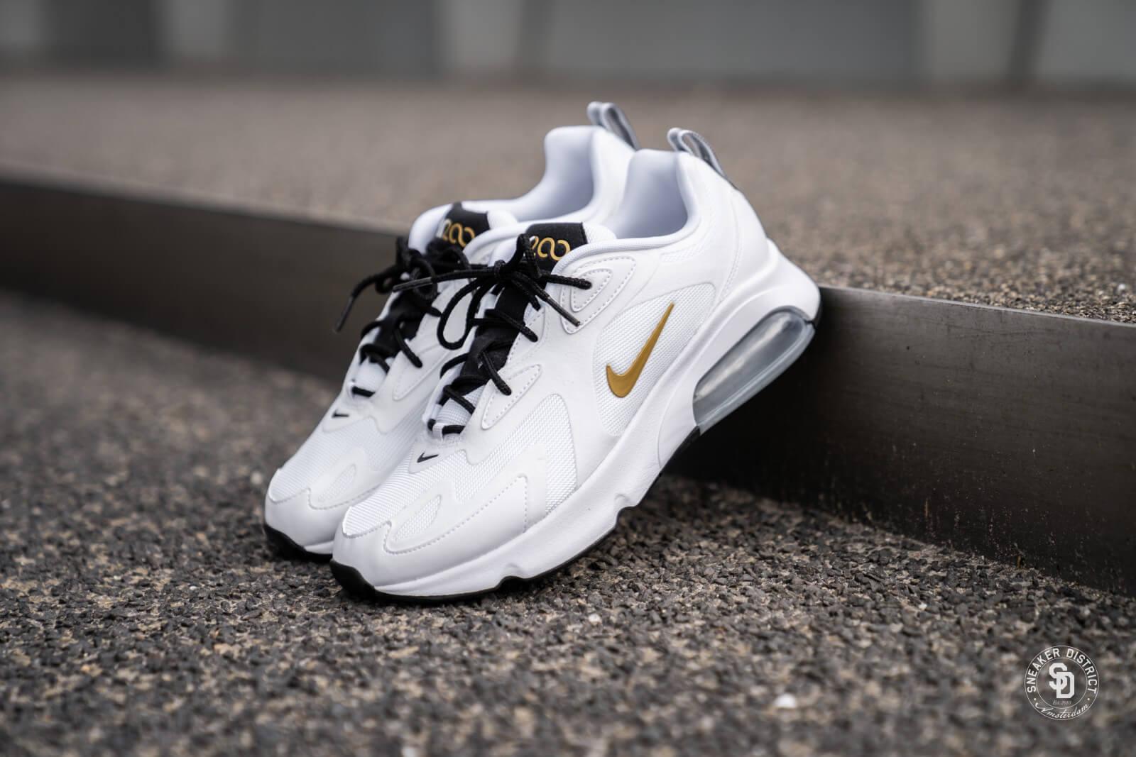 Nike Air Max 200 White/Metallic Gold-Black