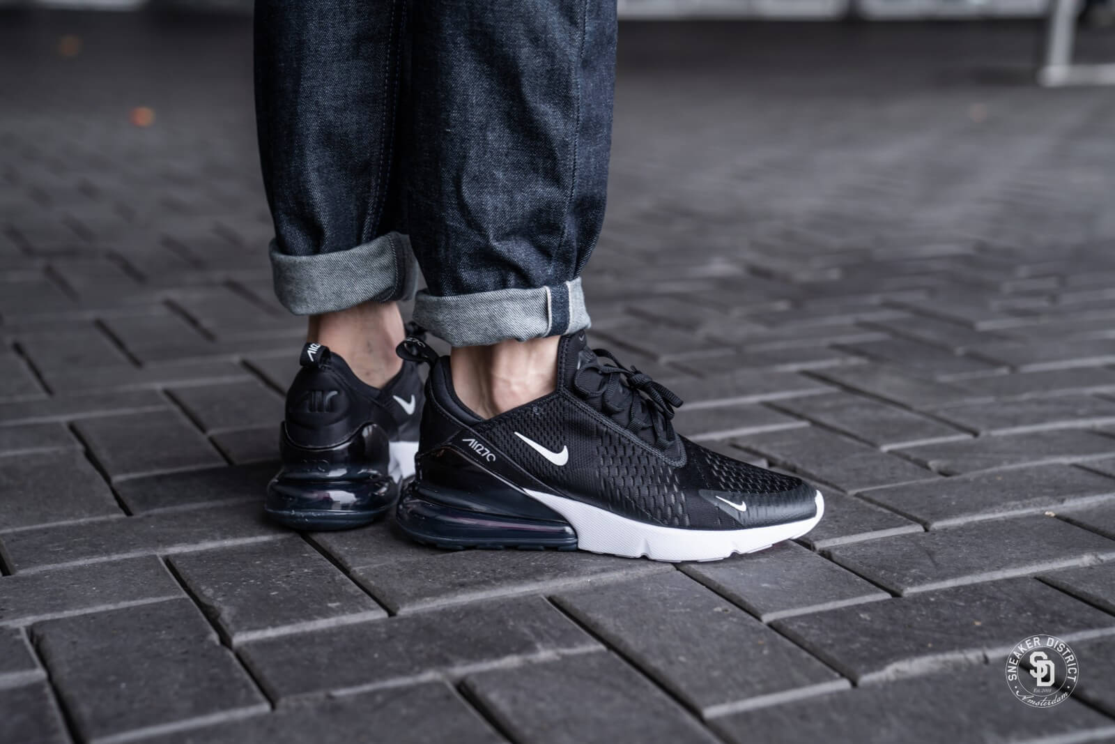 Nike Air Max 270 Black Anthracite White Solar Red Ah8050 002