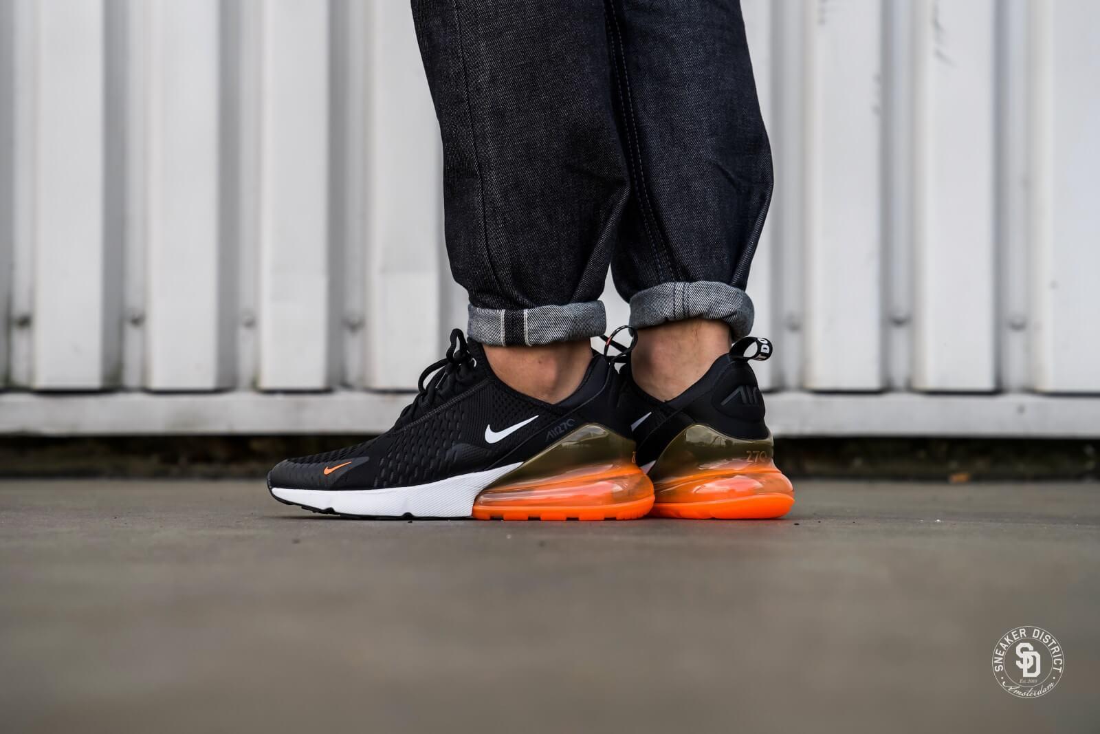 air max orange black white