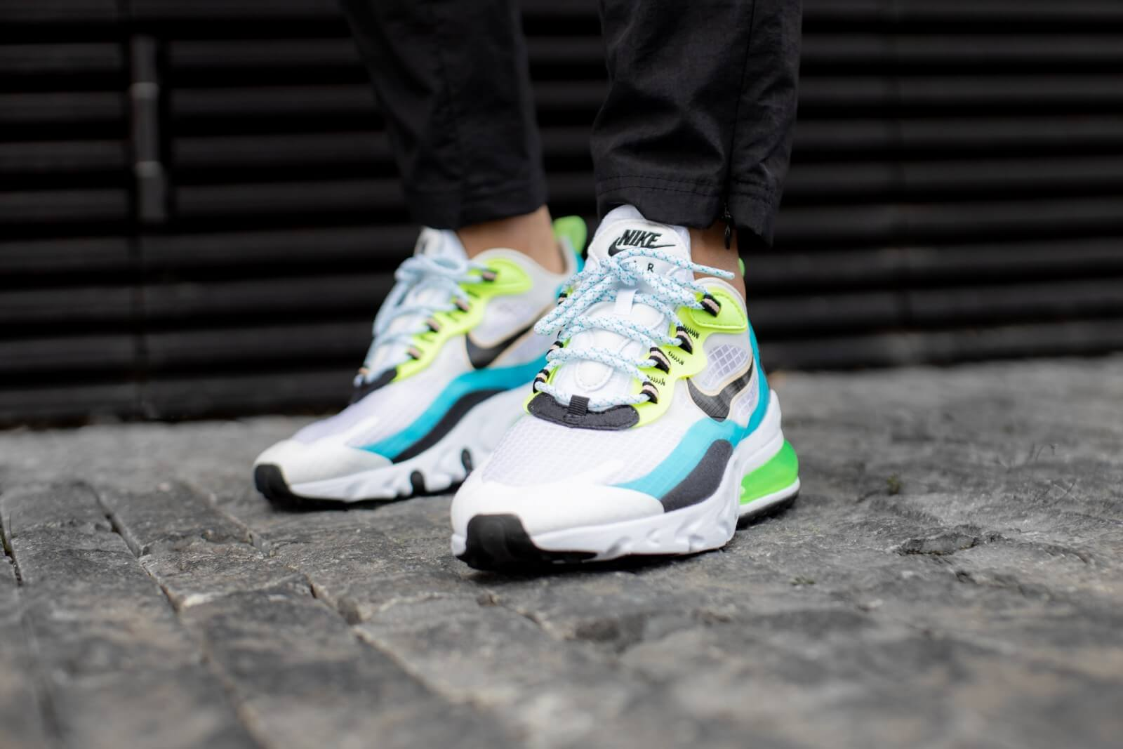 Nike Air Max 270 React SE Oracle Aqua/Black-Ghost Green