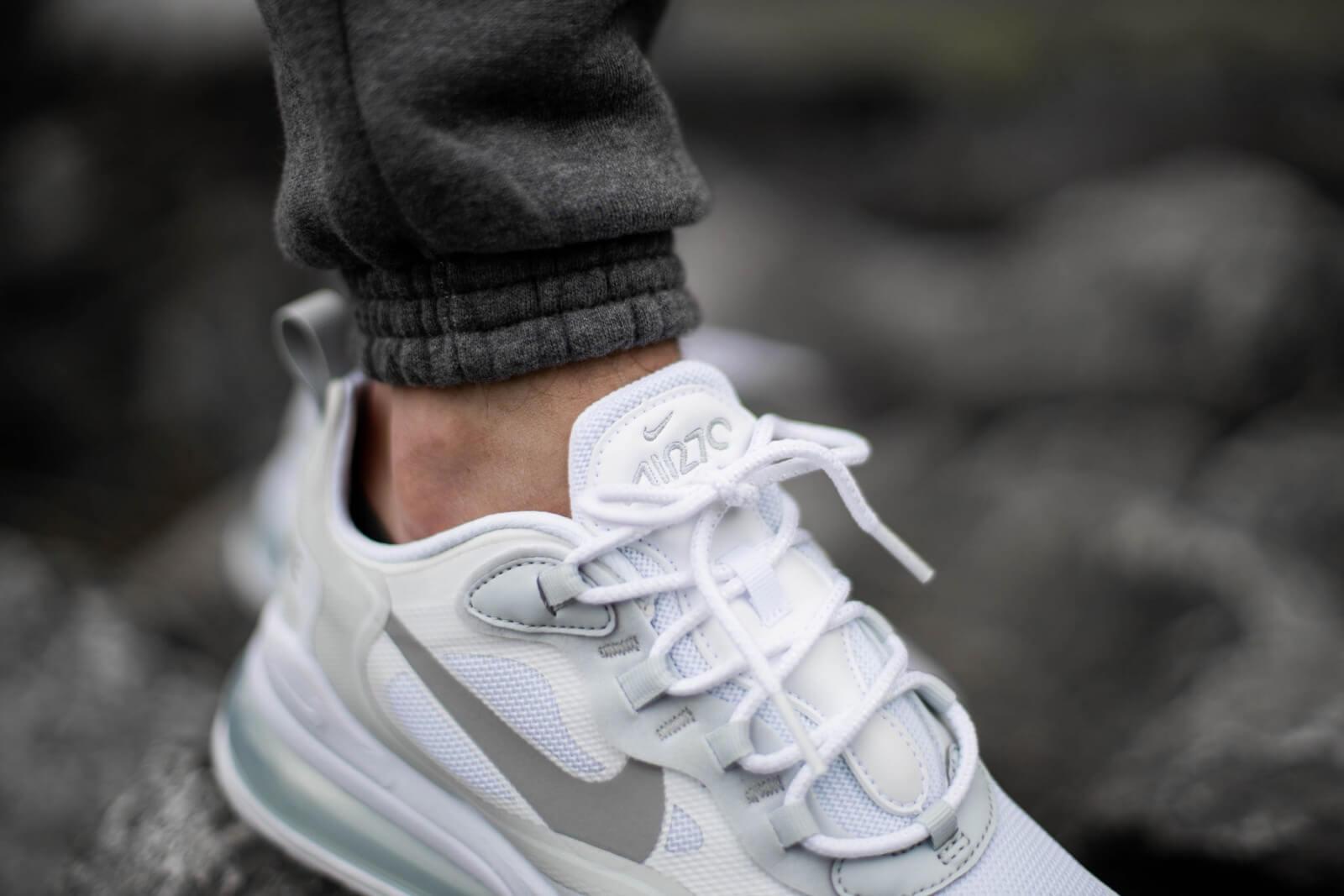 Nike Air Max 270 React WhiteLight Smoke Grey Pure Platinum CV1632 100